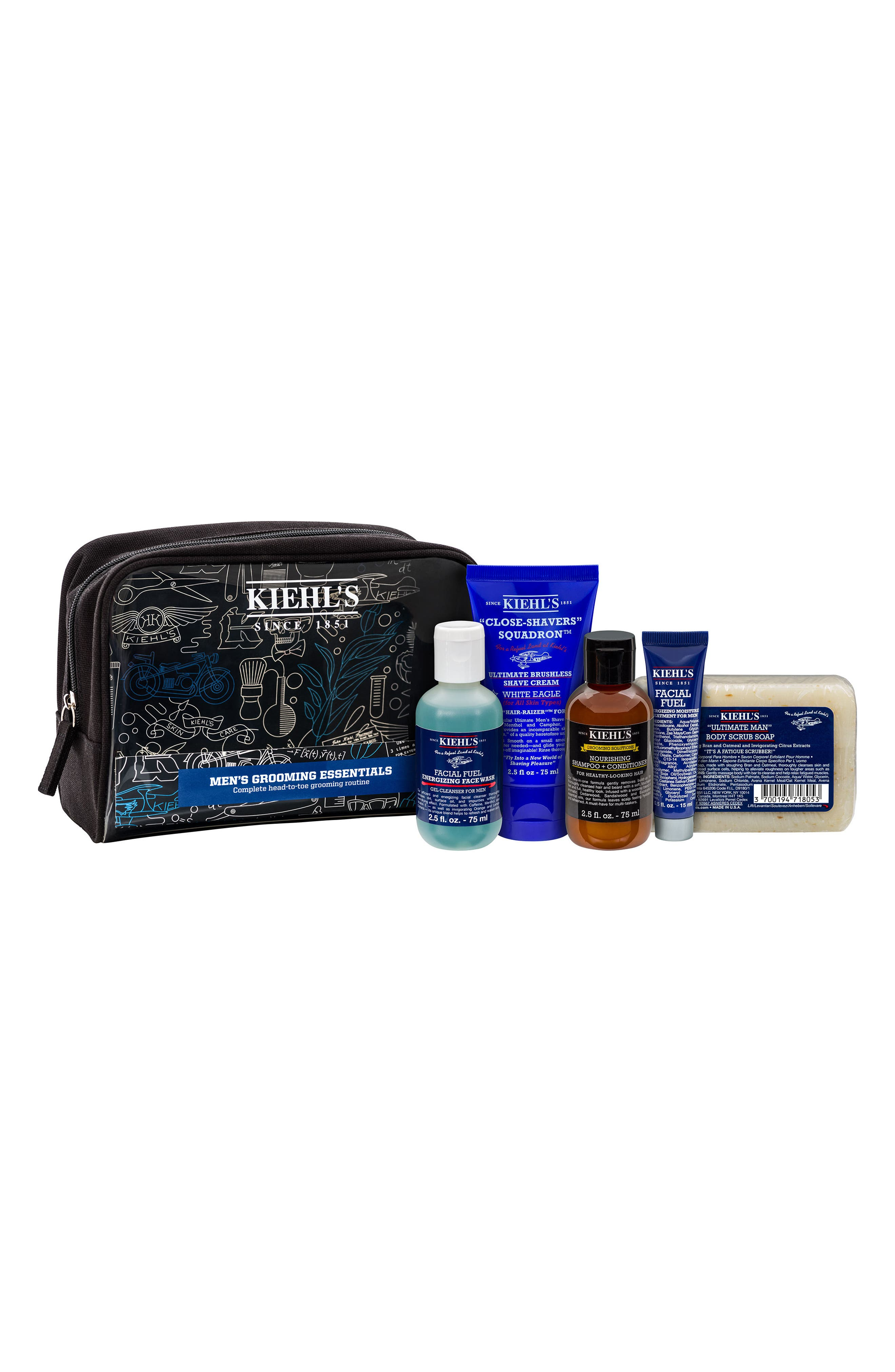 Men's Grooming Essentials Set,                             Main thumbnail 1, color,                             000