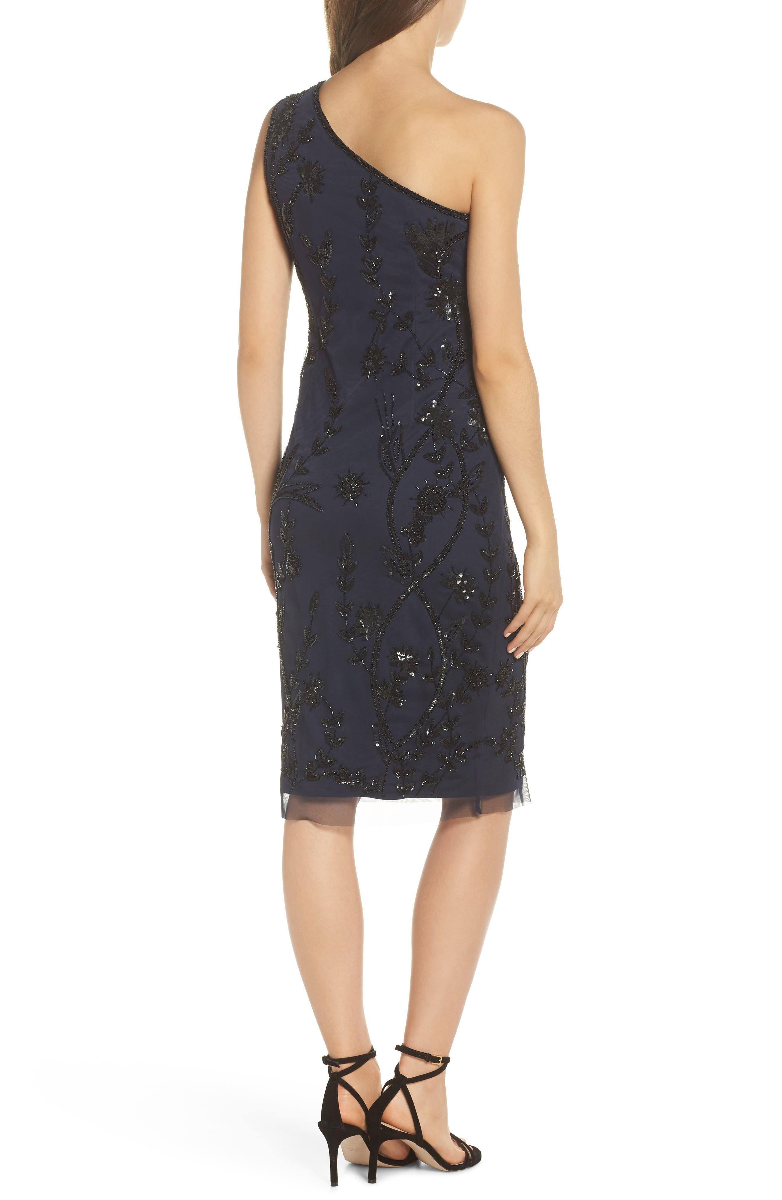 Beaded Sheath Dress,                             Alternate thumbnail 2, color,                             NAVY/ BLACK