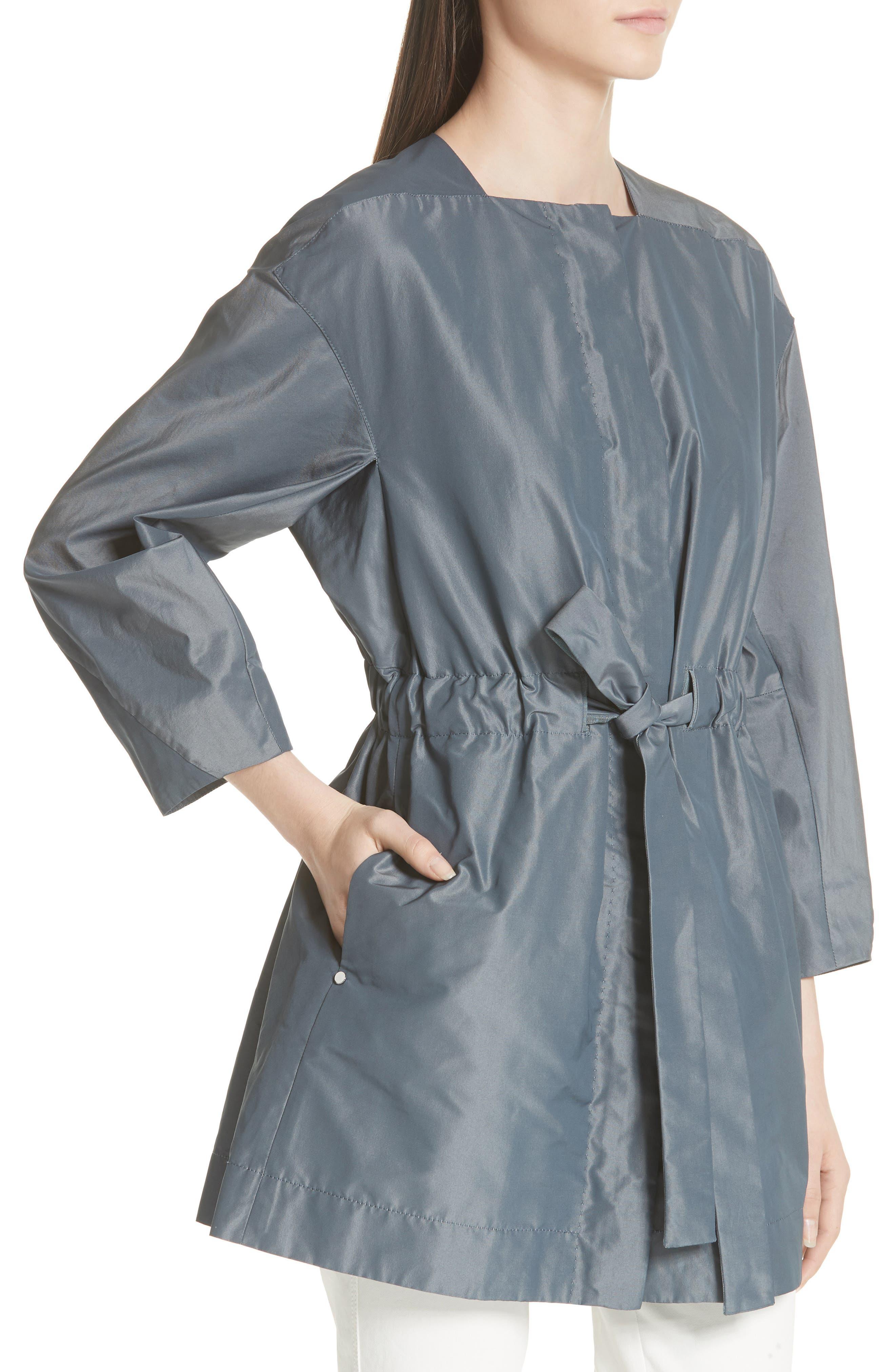Stephania Jacket,                             Alternate thumbnail 4, color,                             PORT BLUE IRIDESCENT
