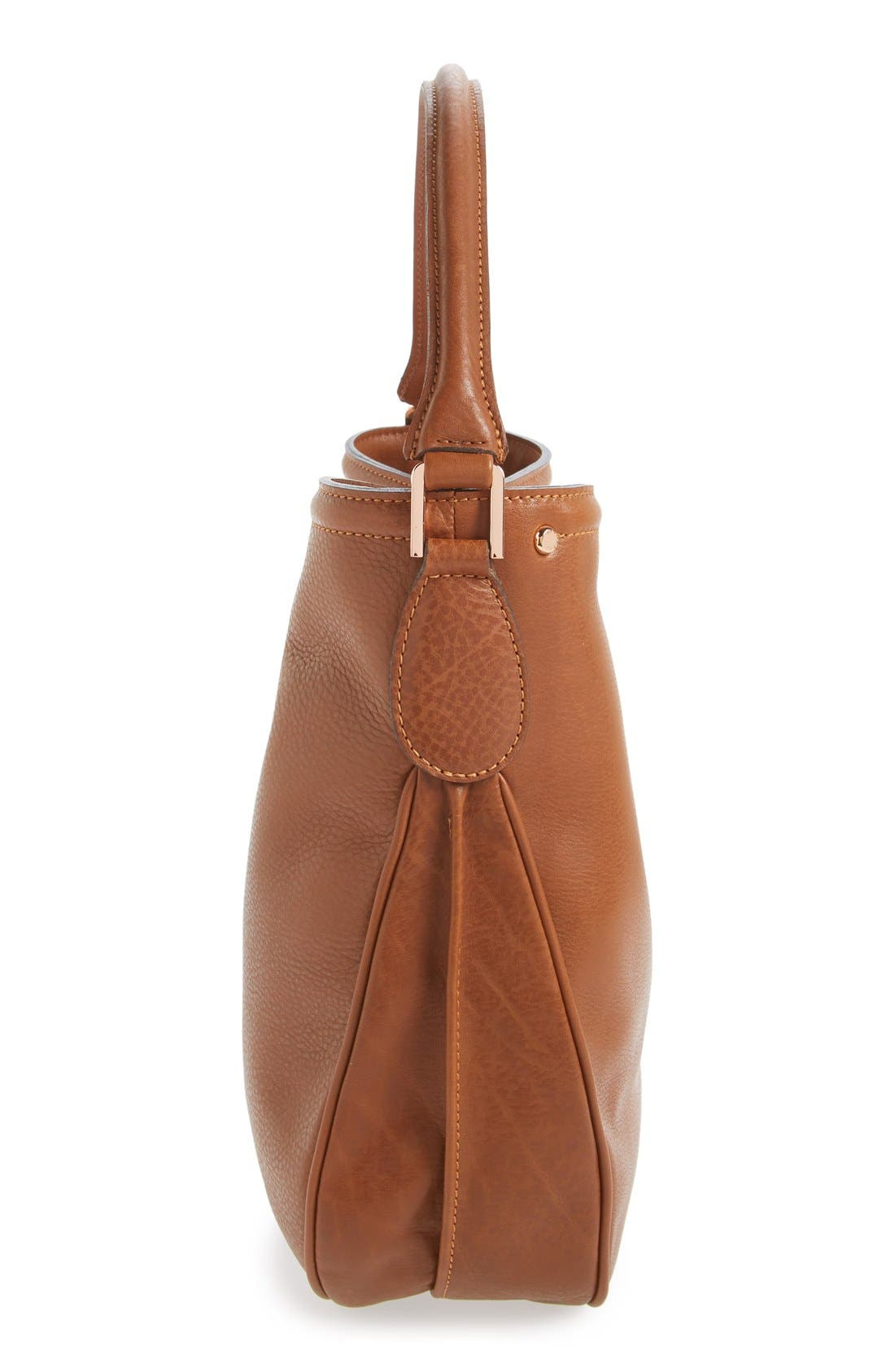 'Mystery' Leather Hobo,                             Alternate thumbnail 6, color,