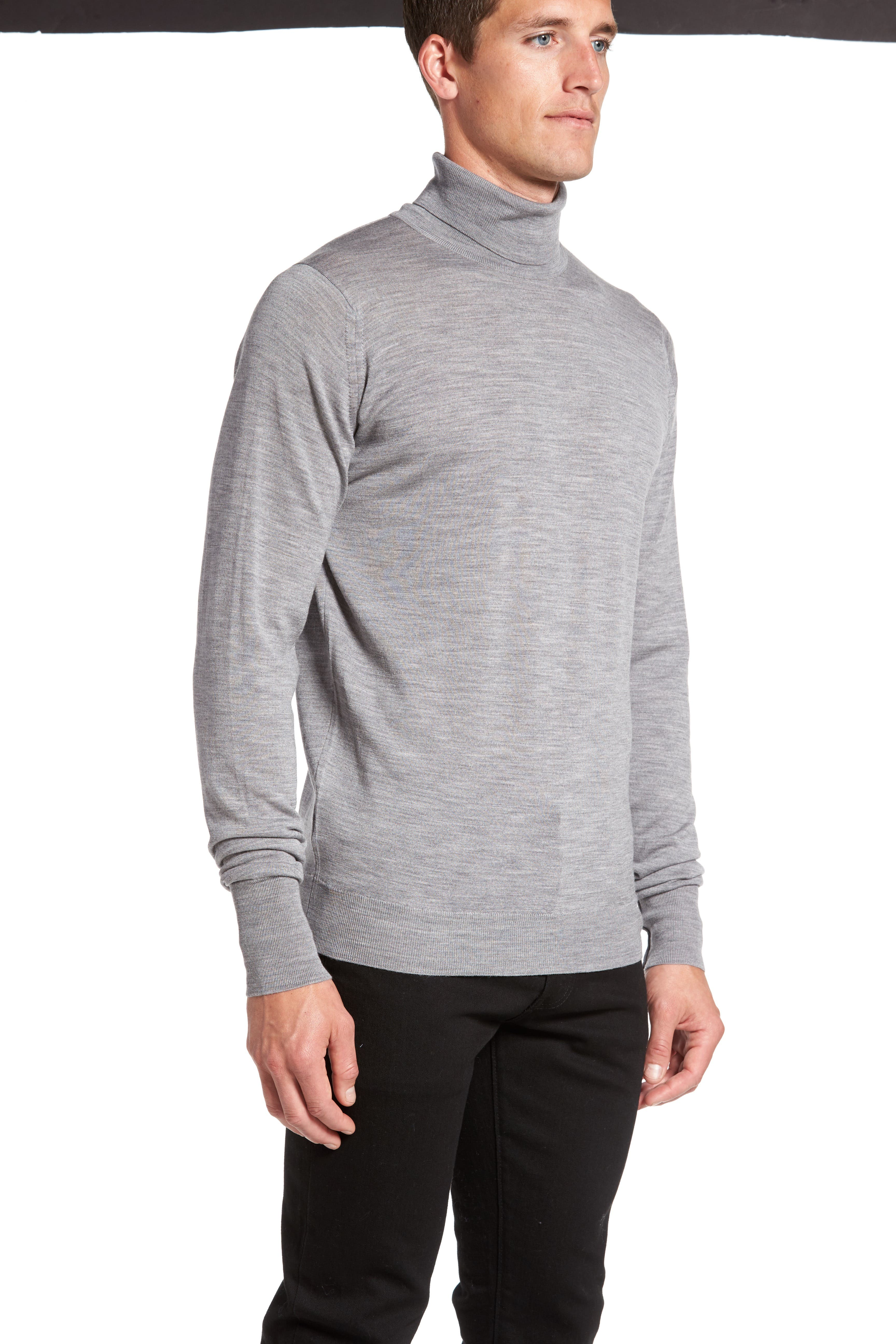 'Richards' Easy Fit Turtleneck Wool Sweater,                             Alternate thumbnail 22, color,