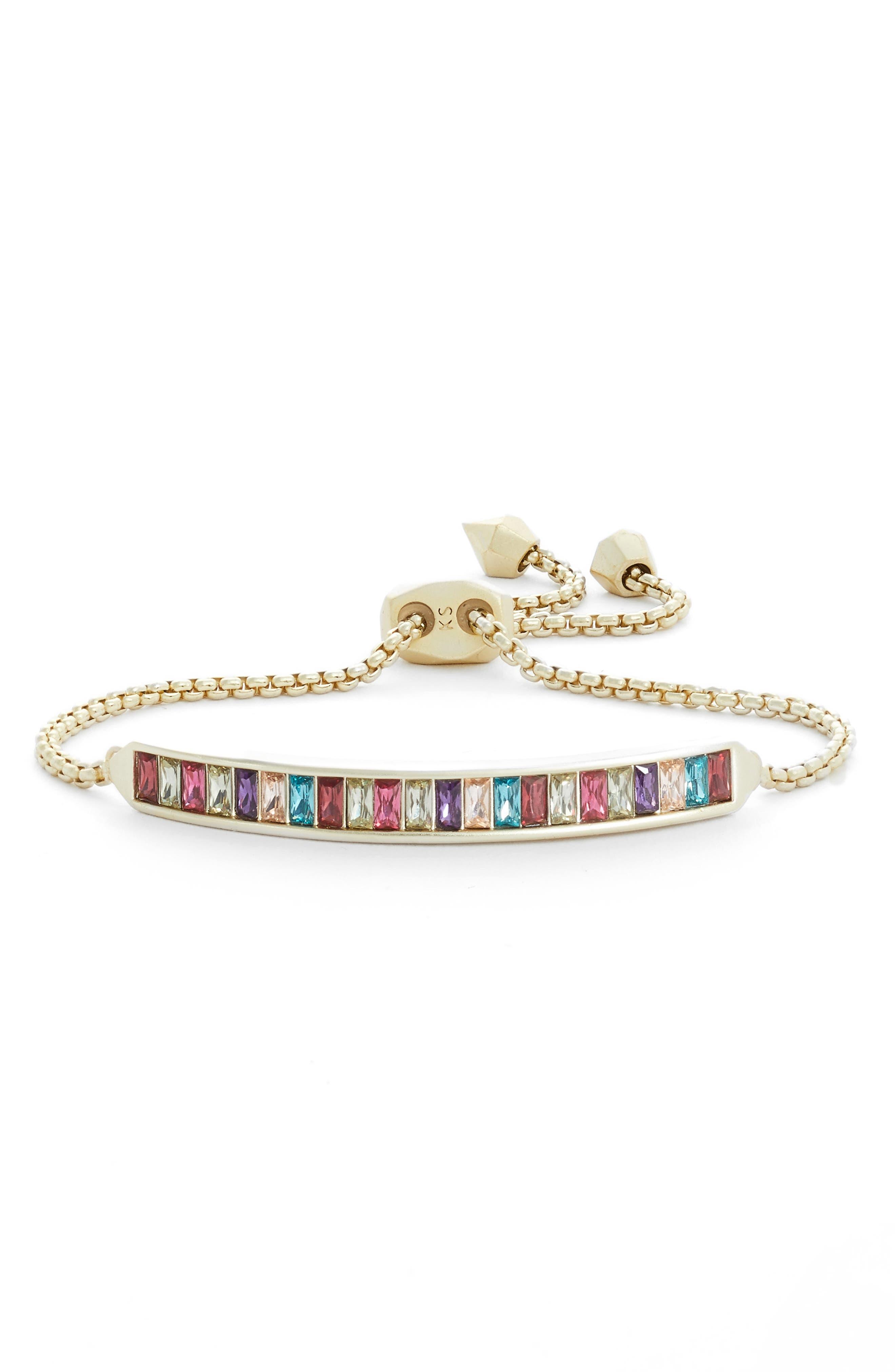 Jack Slider Bracelet,                         Main,                         color, JEWEL MIX/ GOLD