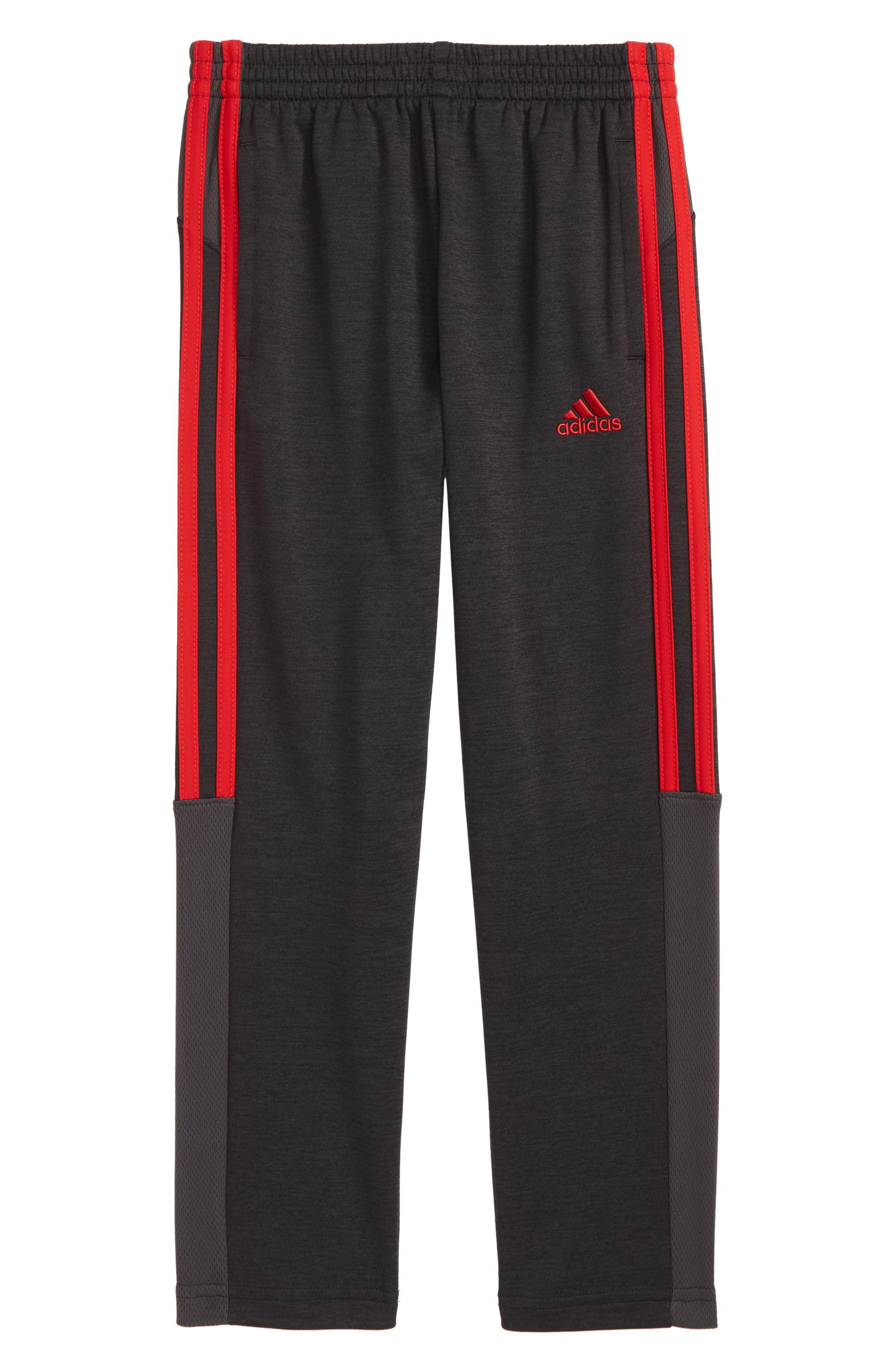Mélange Track Pants,                             Main thumbnail 1, color,                             BLACK/ RED