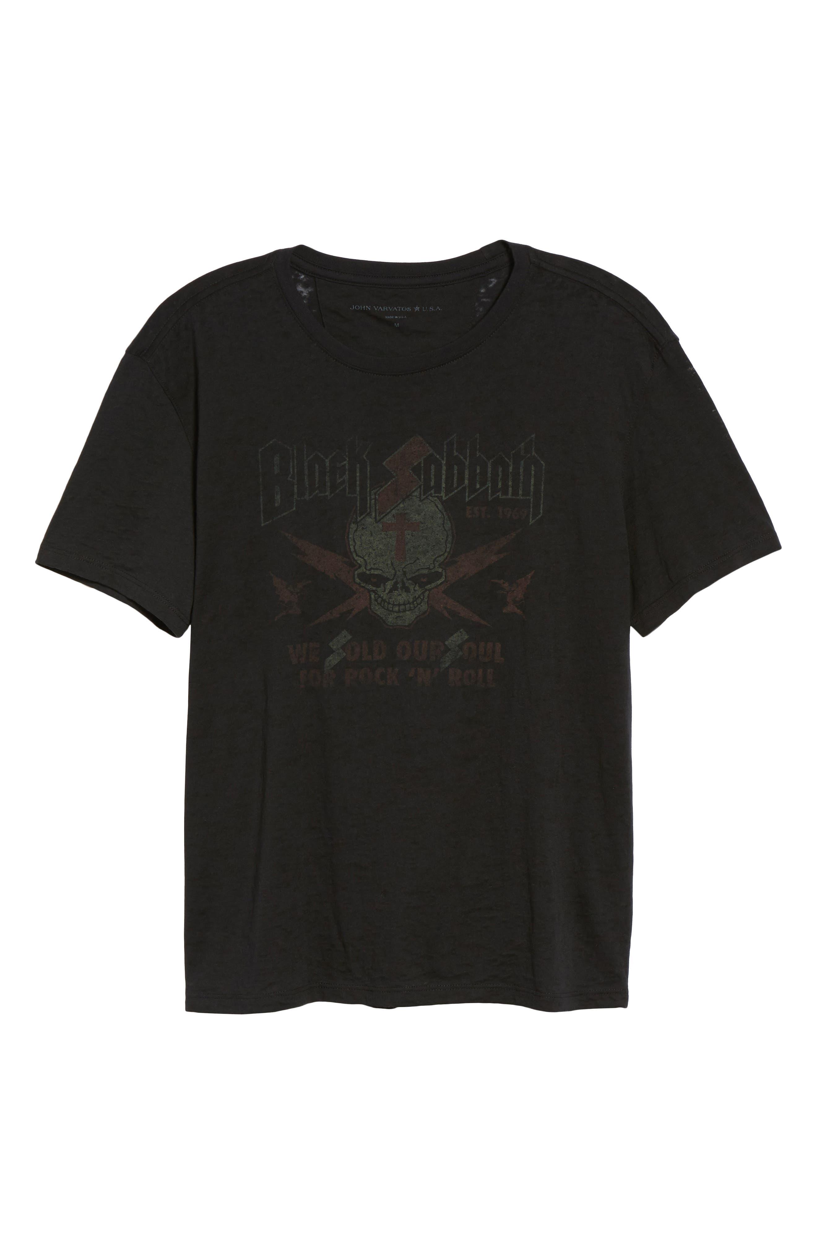 Black Sabbath Graphic T-Shirt,                             Alternate thumbnail 6, color,                             001