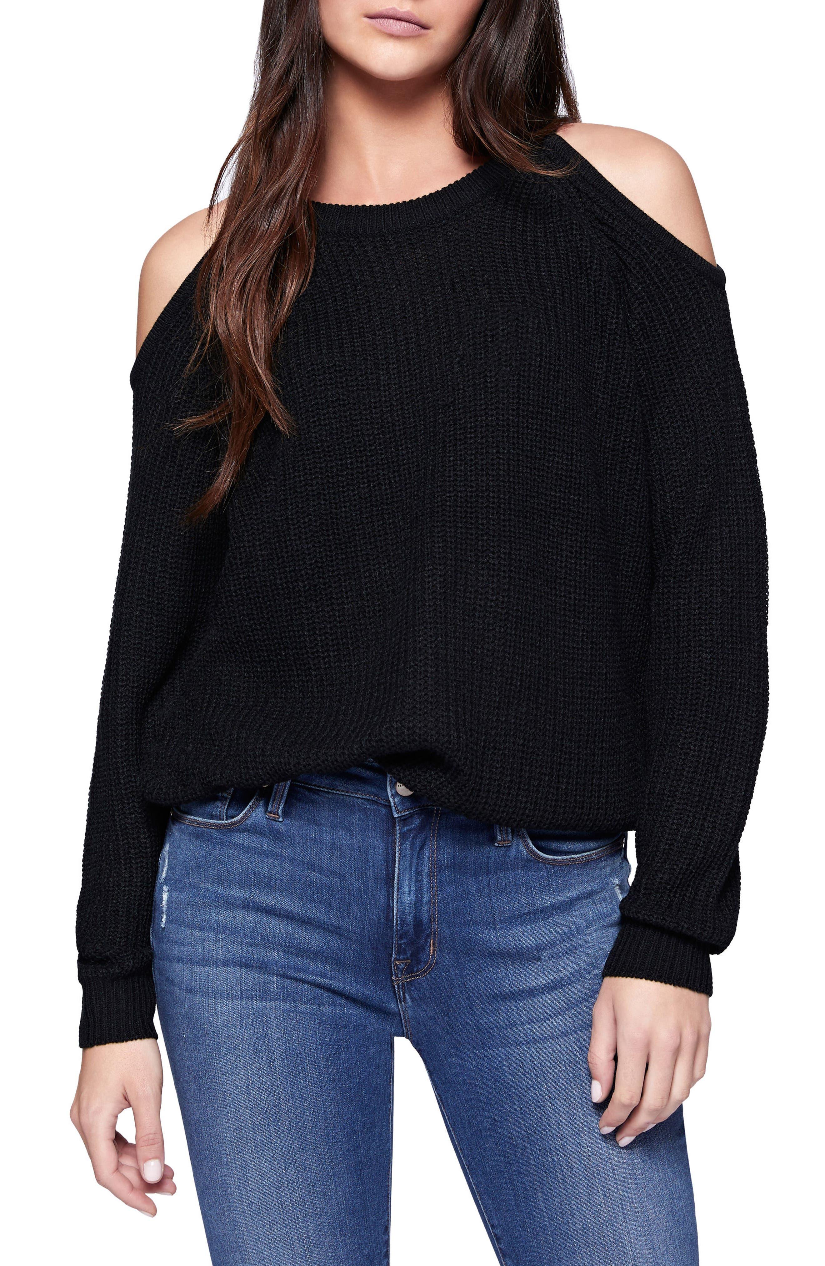 Riley Cold Shoulder Sweater,                             Main thumbnail 4, color,
