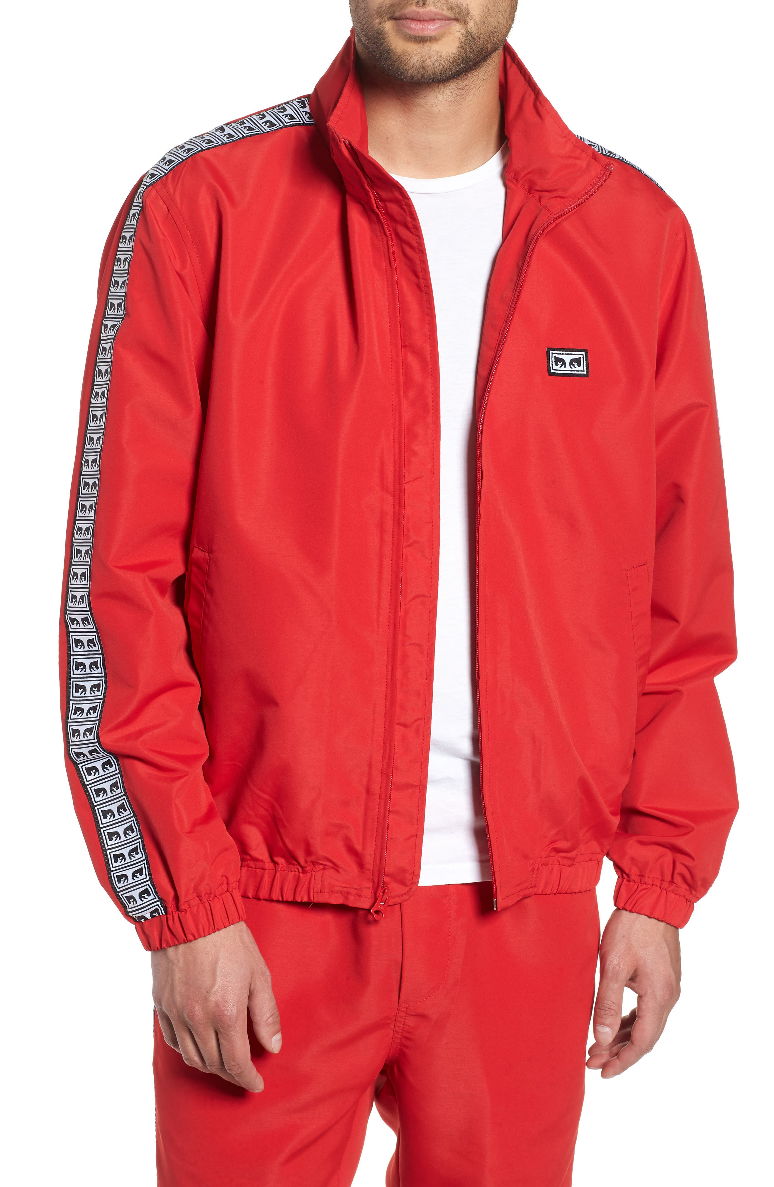 Eyes Lightweight Jacket,                             Main thumbnail 1, color,                             HOT RED