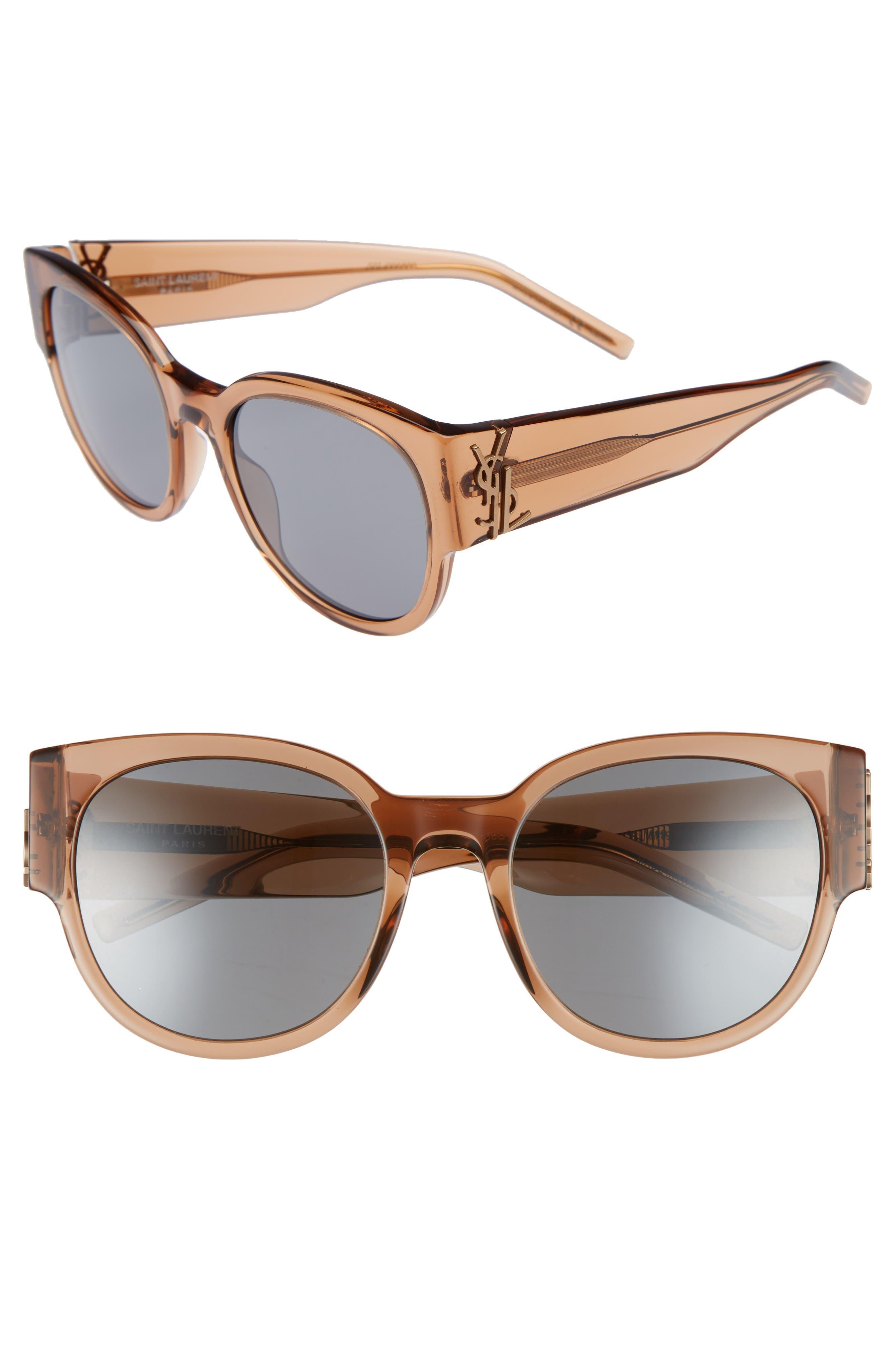 SL M19 54mm Cat Eye Sunglasses,                             Main thumbnail 1, color,                             NUDE