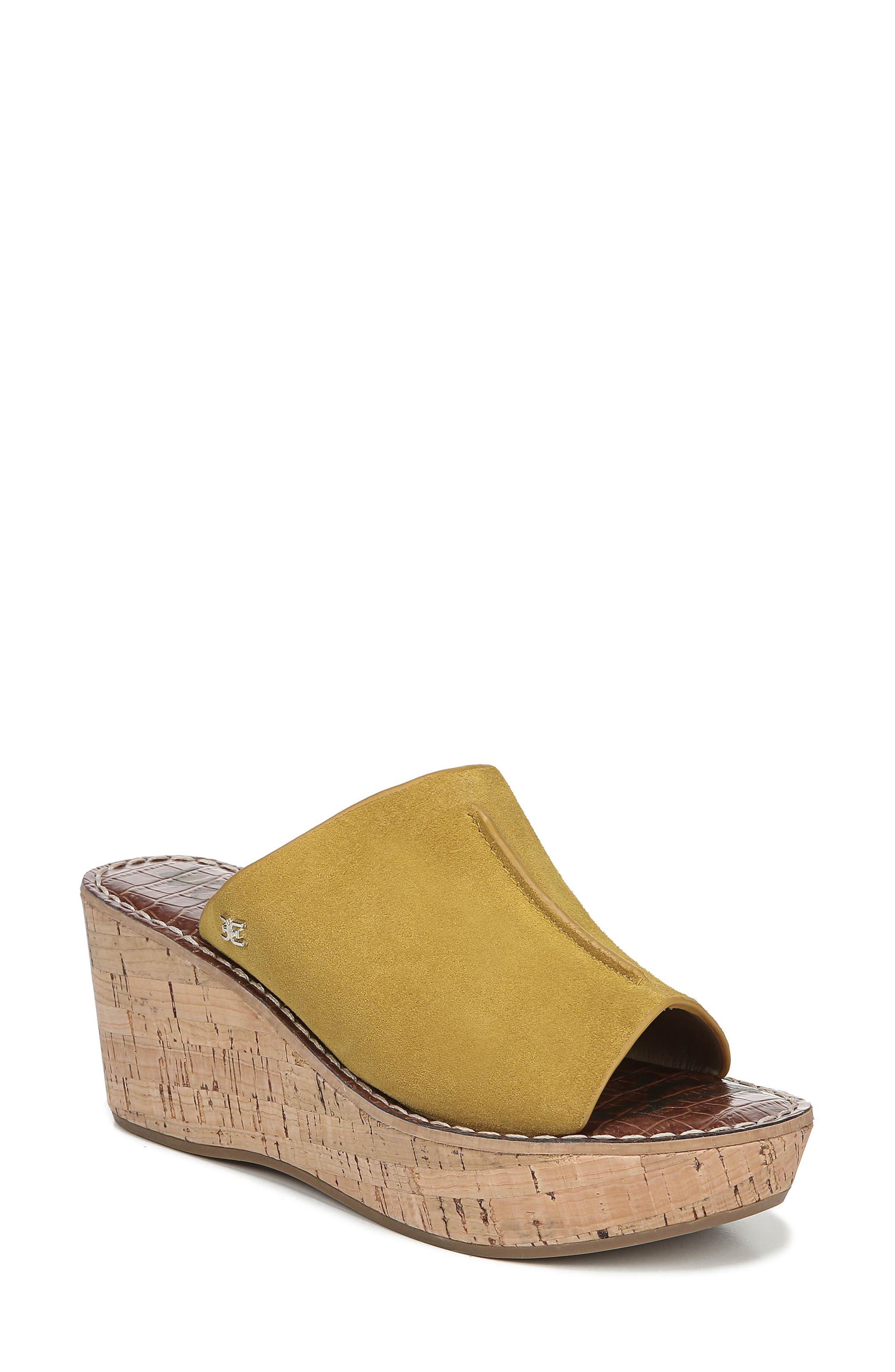 Sam Edelman Ranger Platform Sandal- Yellow