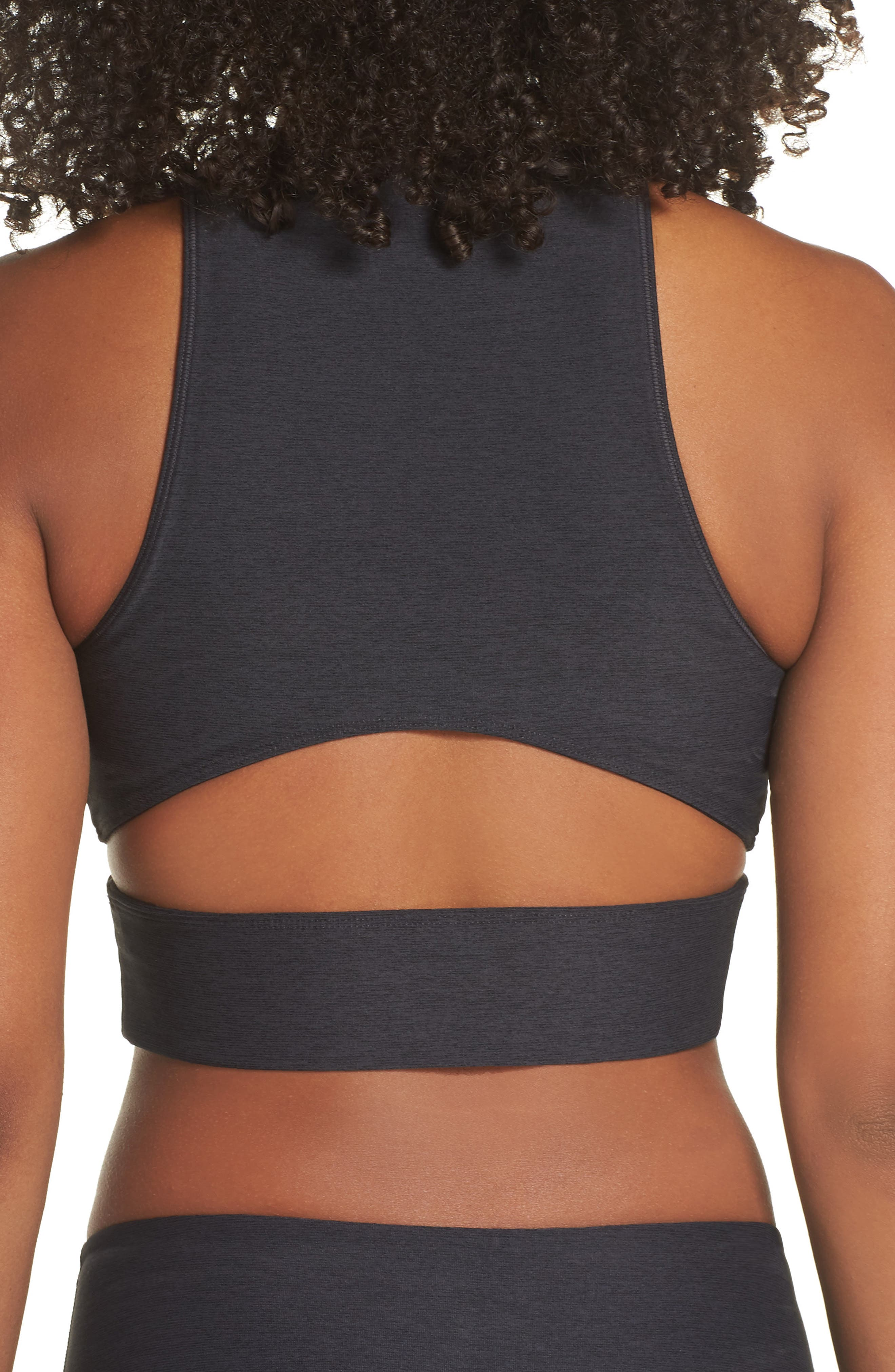 Slashback Crop Top,                             Alternate thumbnail 2, color,                             CHARCOAL