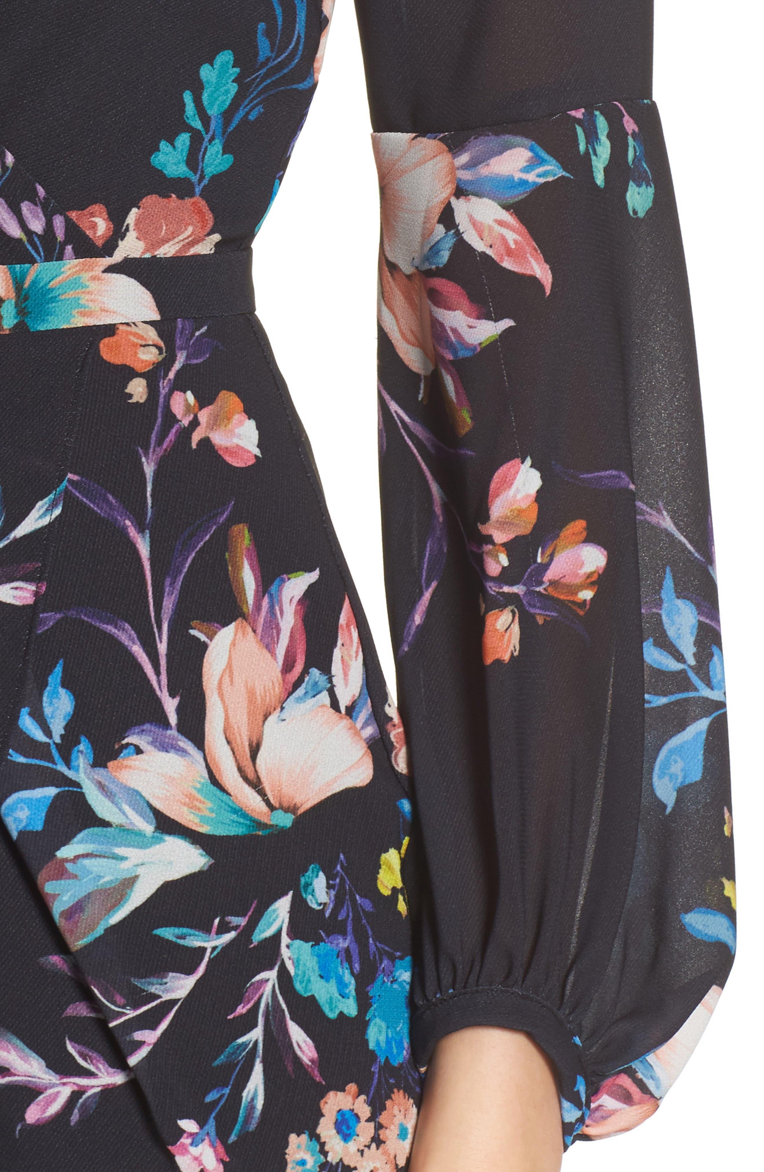 Romanticise Midi Dress,                             Alternate thumbnail 8, color,