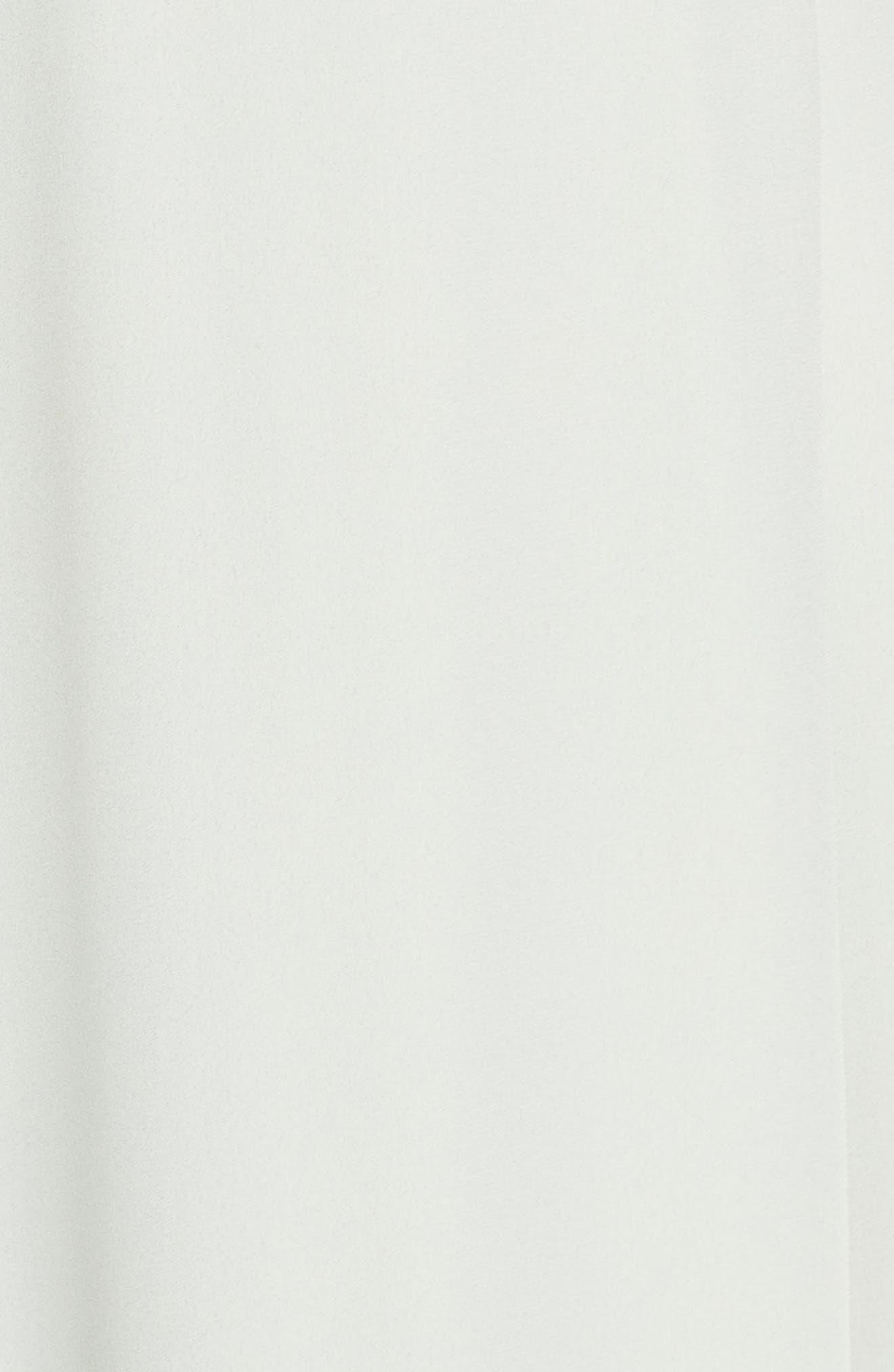 WAYF,                             The Aurelia Short Sleeve Wrap Evening Dress,                             Alternate thumbnail 6, color,                             SAGE