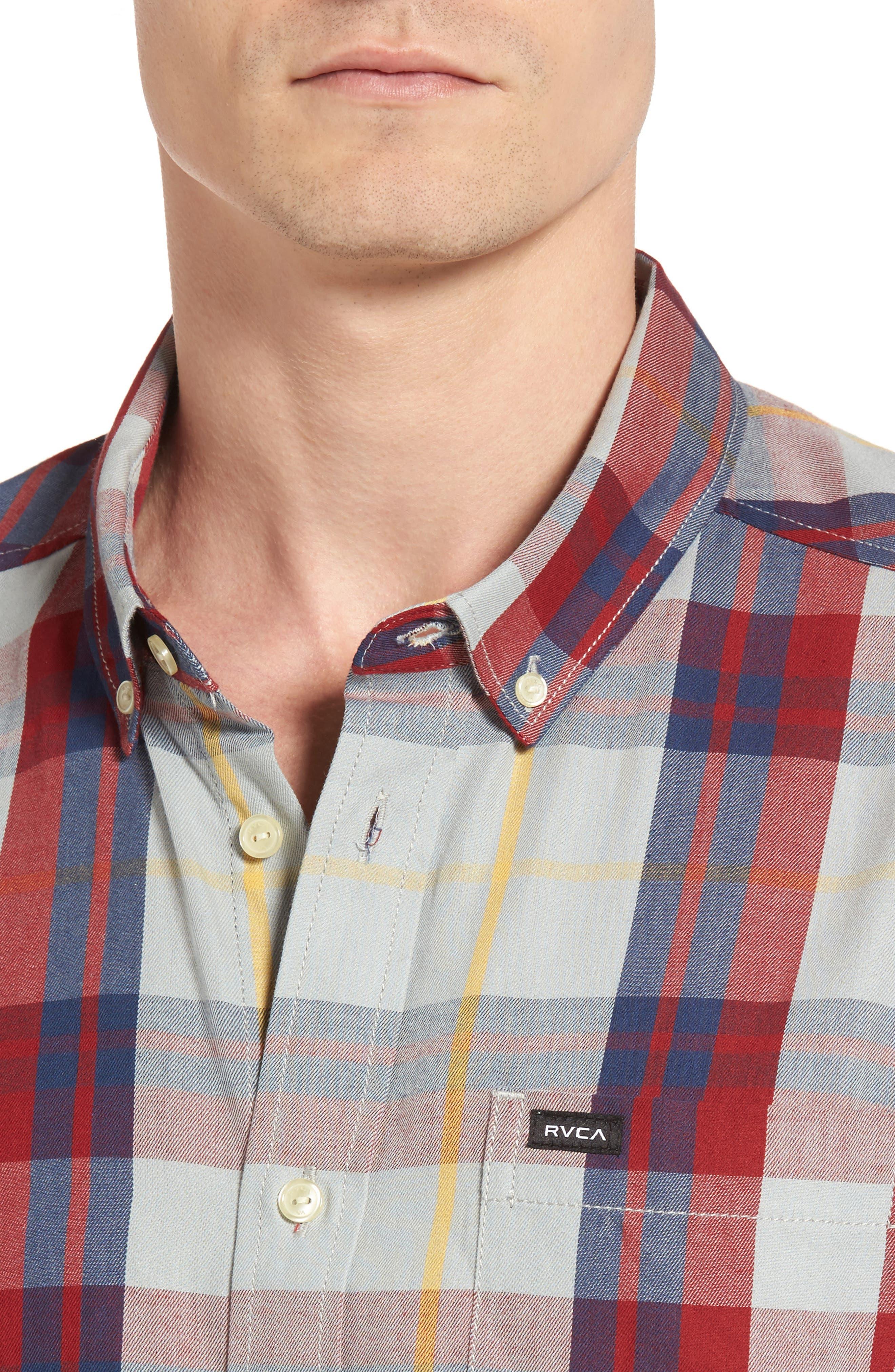 Waas 2 Plaid Woven Shirt,                             Alternate thumbnail 7, color,