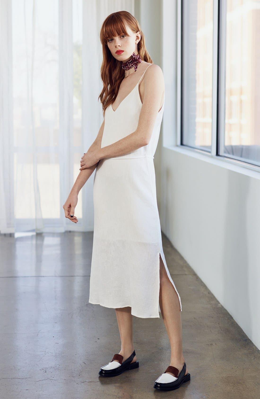 Tie Waist Midi Dress,                             Alternate thumbnail 6, color,