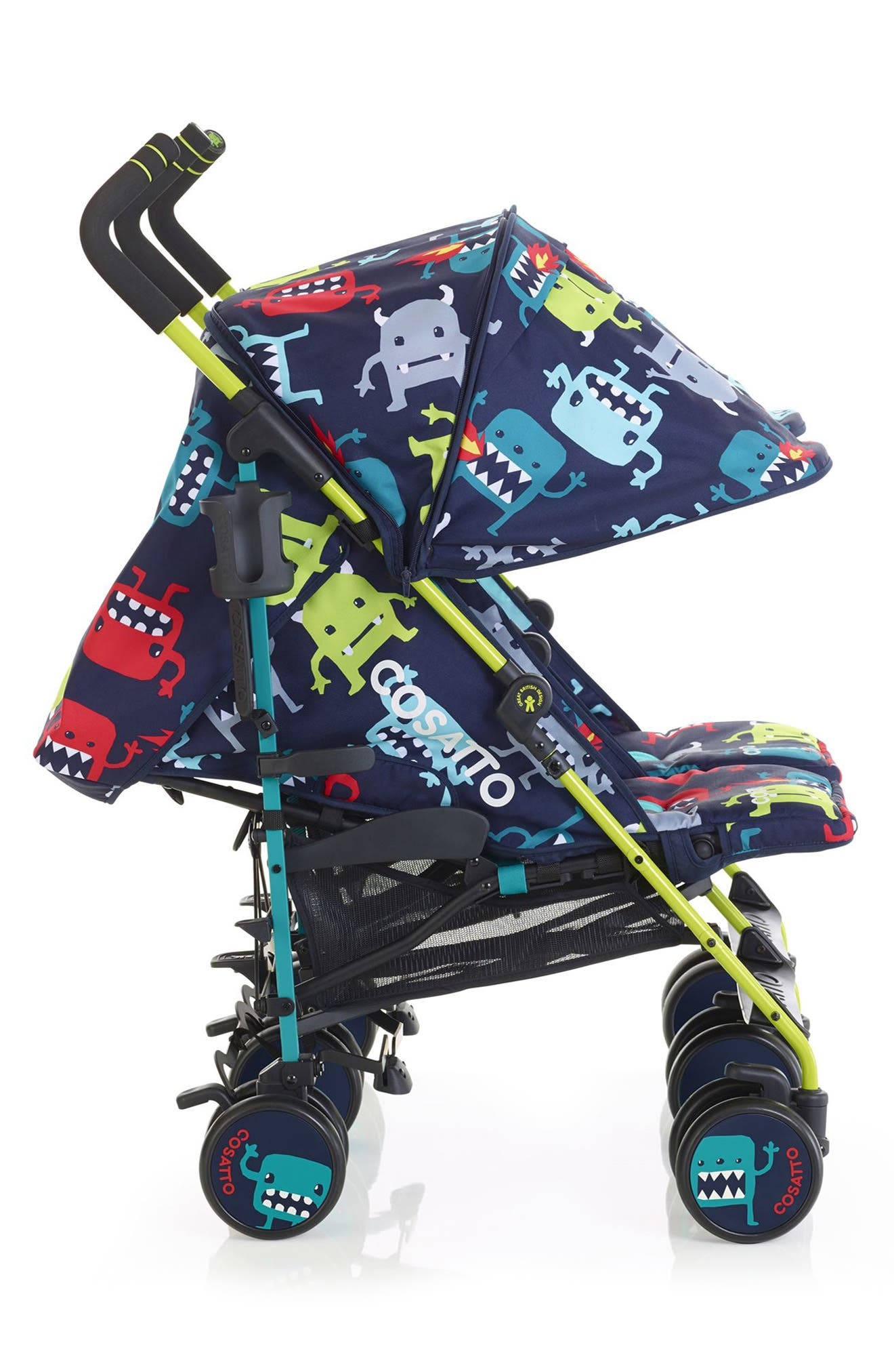 Supa Dupa Cuddle Monster Double Stroller,                             Alternate thumbnail 4, color,                             001