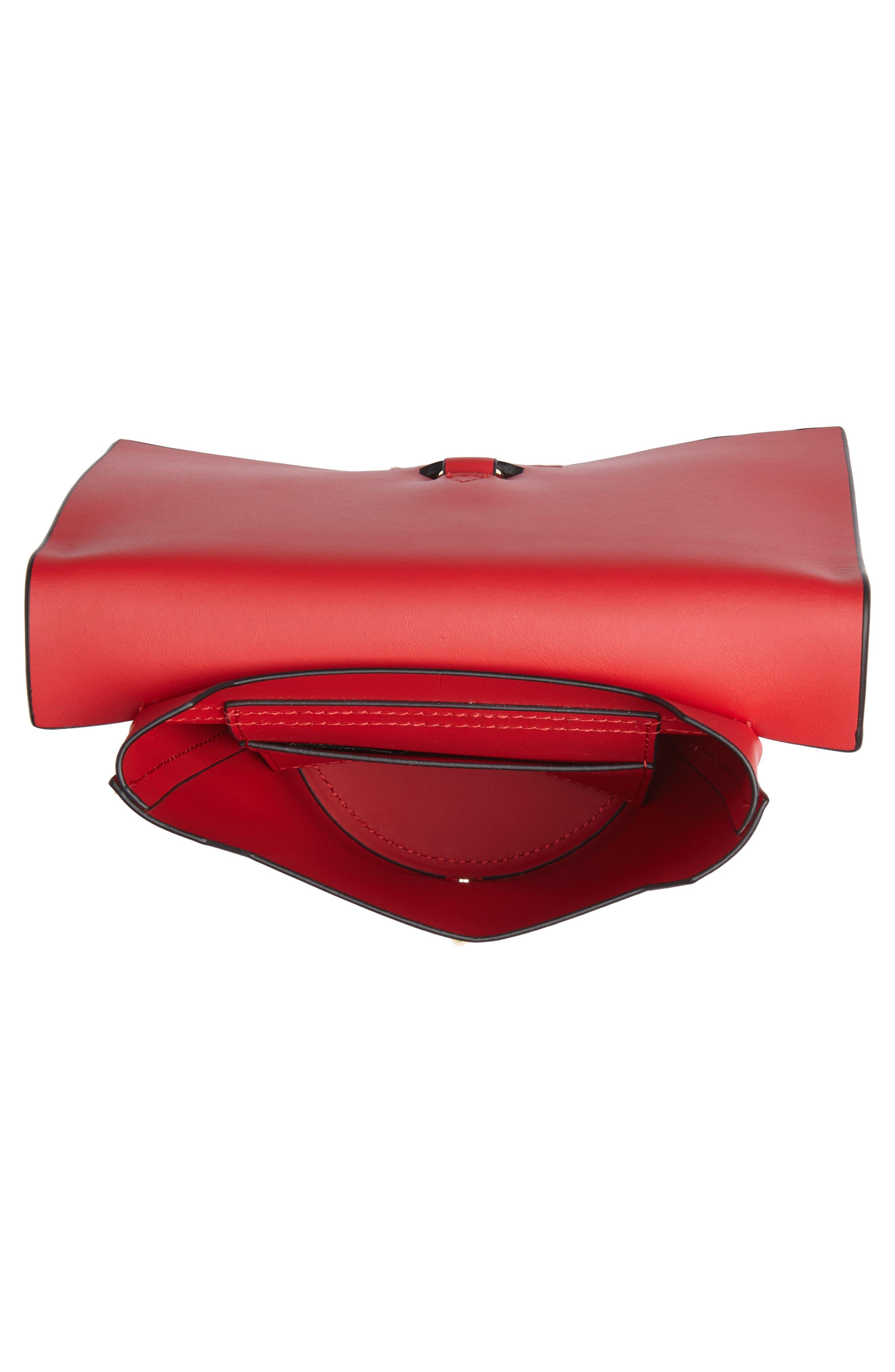 Belay Chain Calfskin Leather Crossbody Bag,                             Alternate thumbnail 14, color,