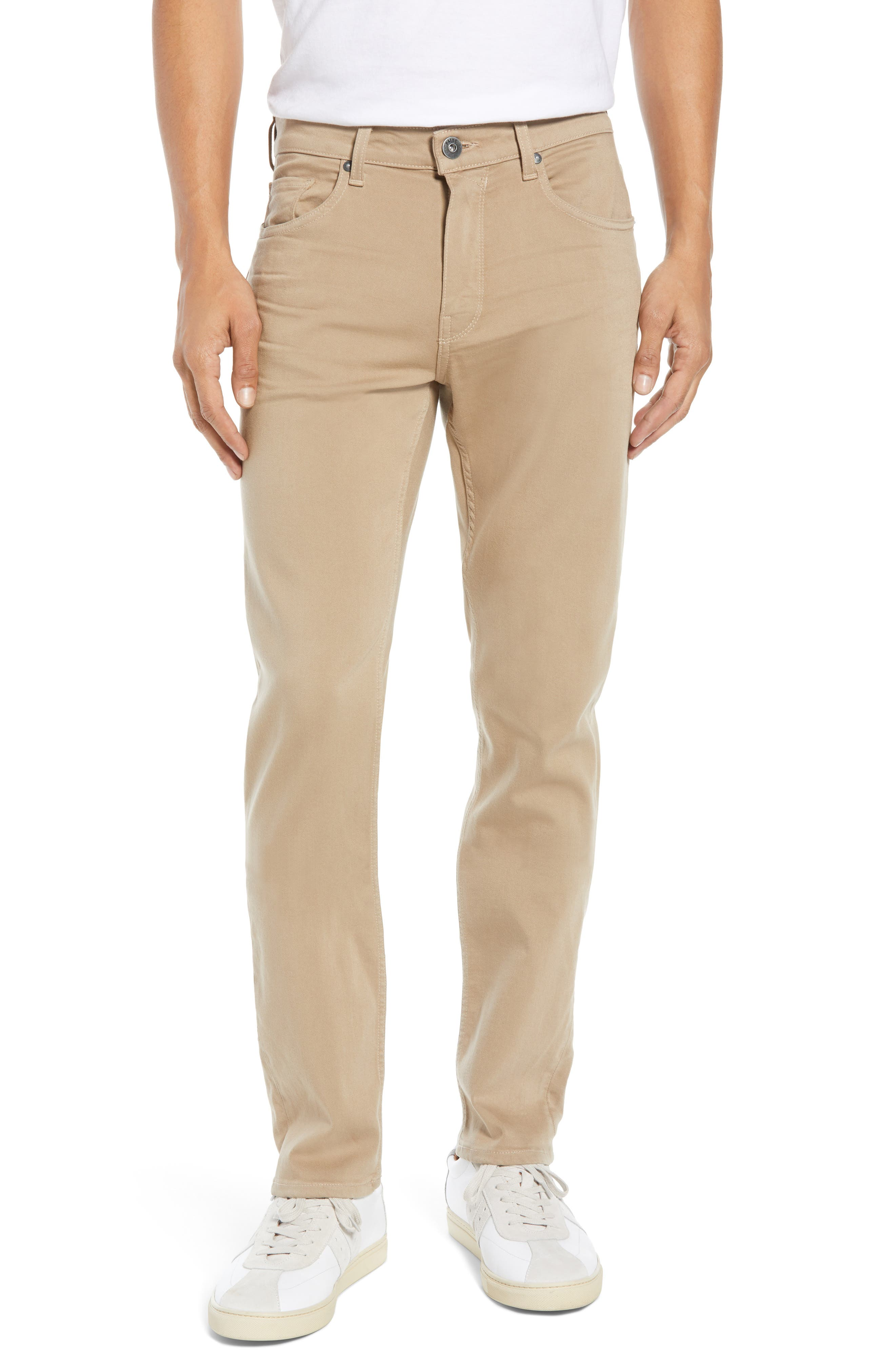 Transcend - Federal Slim Straight Leg Jeans, Main, color, BAKED TAN