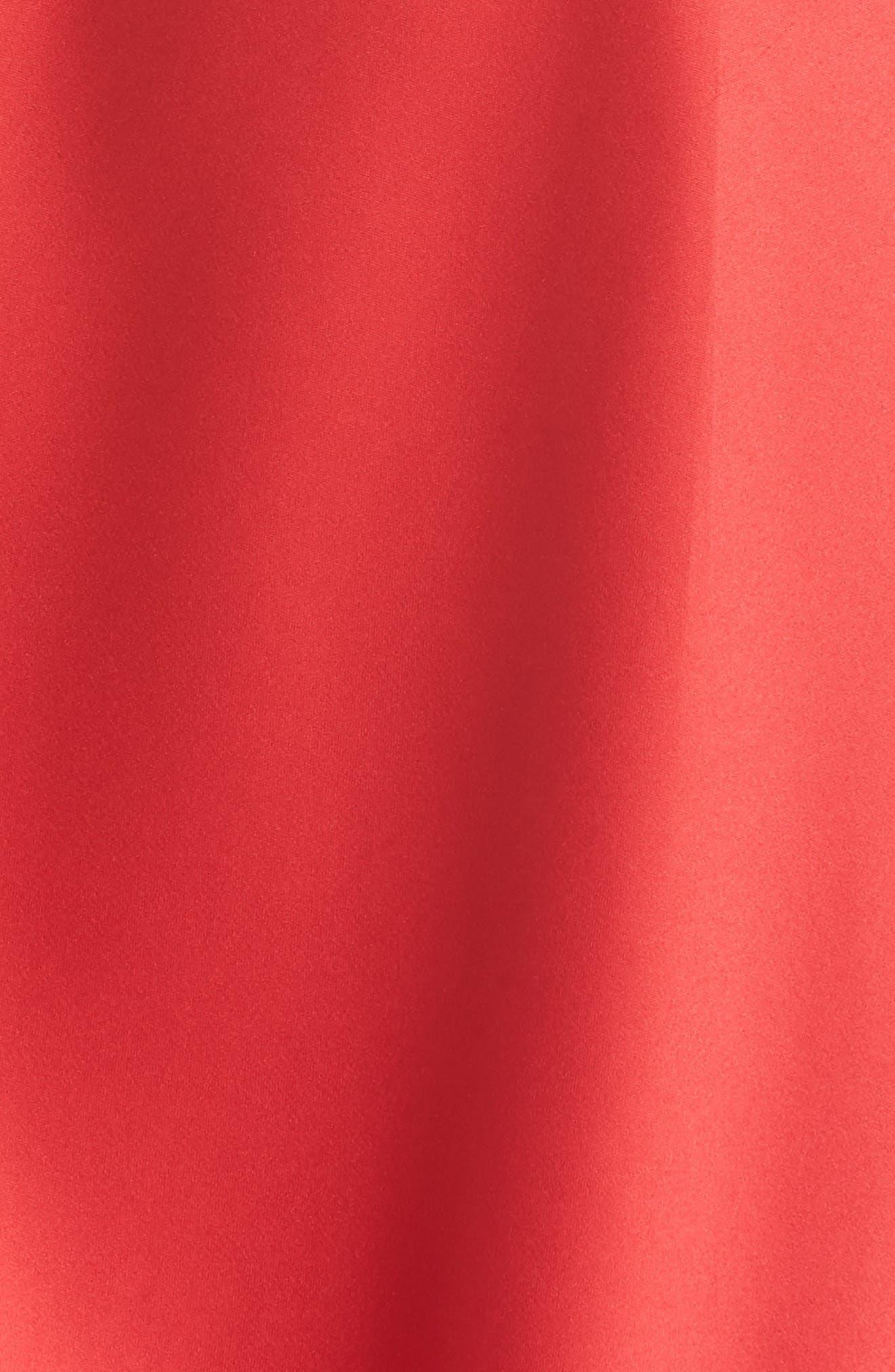 Cherryann Chemise,                             Alternate thumbnail 5, color,                             RED/ BLACK