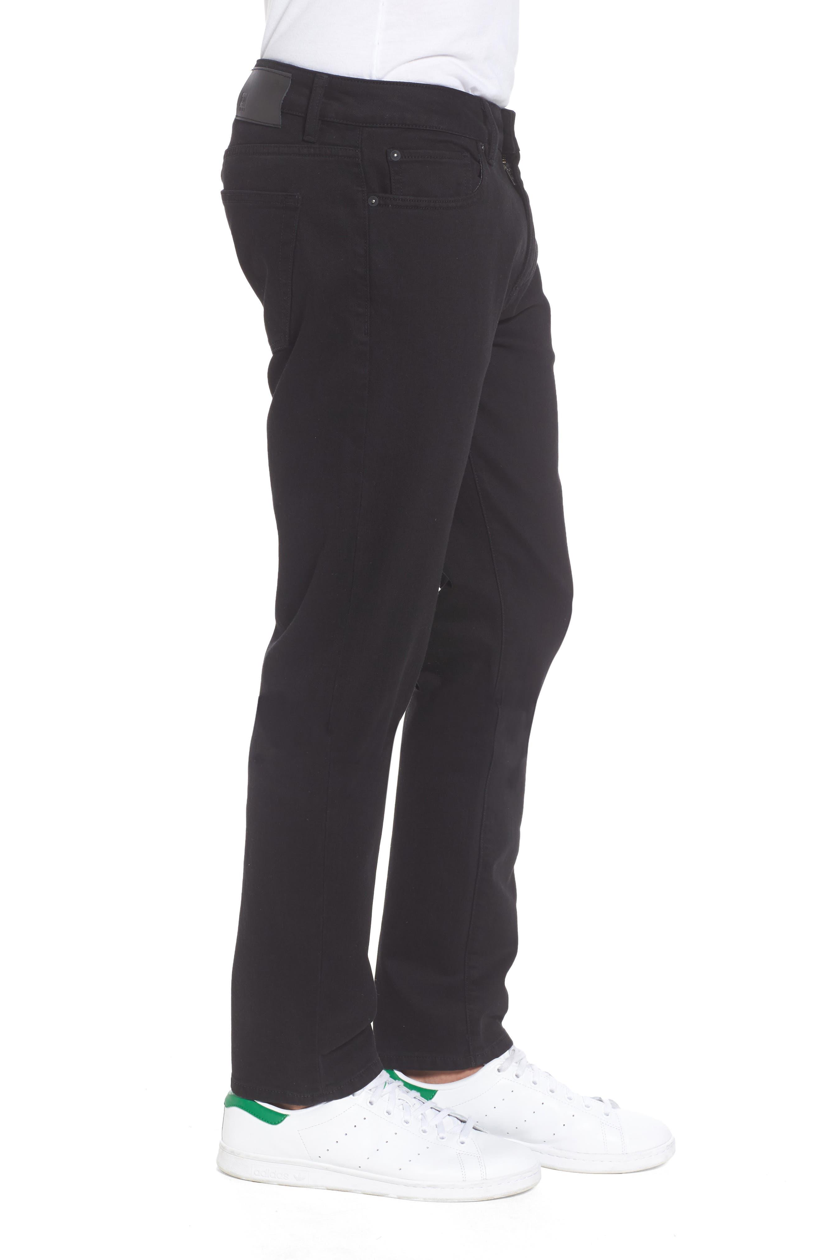 Nick Slim Fit Flat Front Pants,                             Alternate thumbnail 3, color,                             001