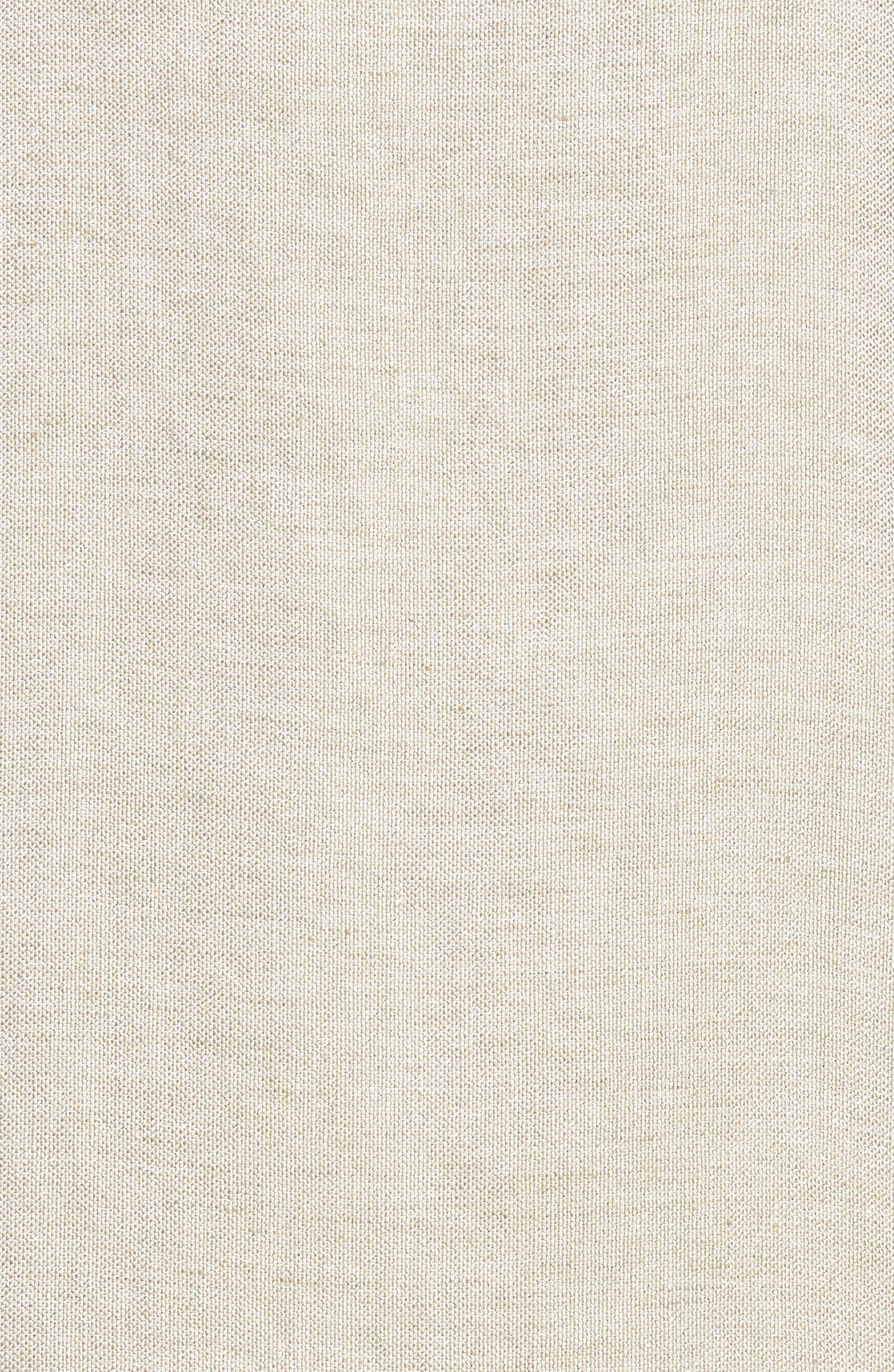 Scoop Neck Linen Blend Dress,                             Alternate thumbnail 6, color,                             257
