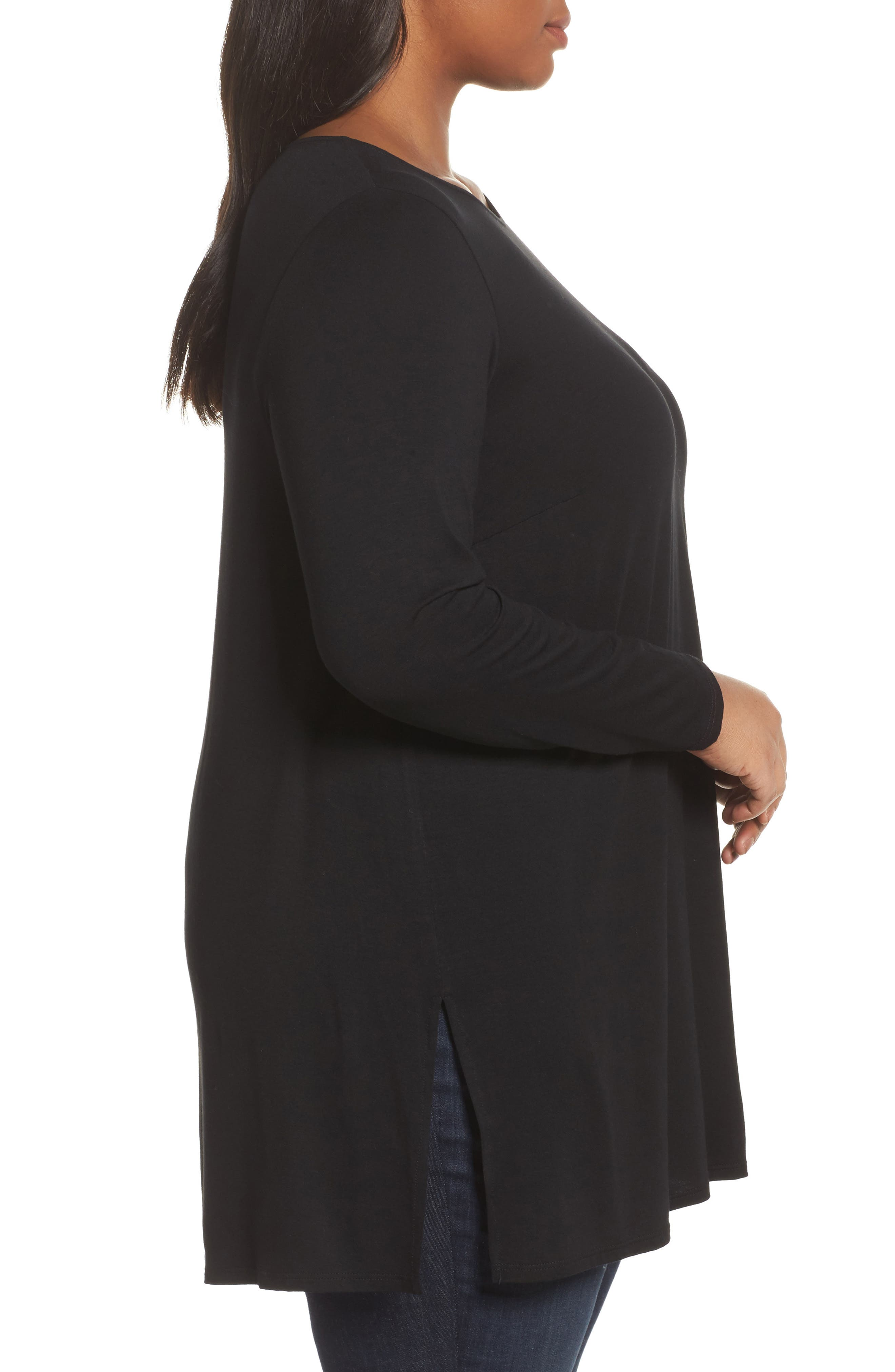 Round Neck Jersey Tunic,                             Alternate thumbnail 5, color,