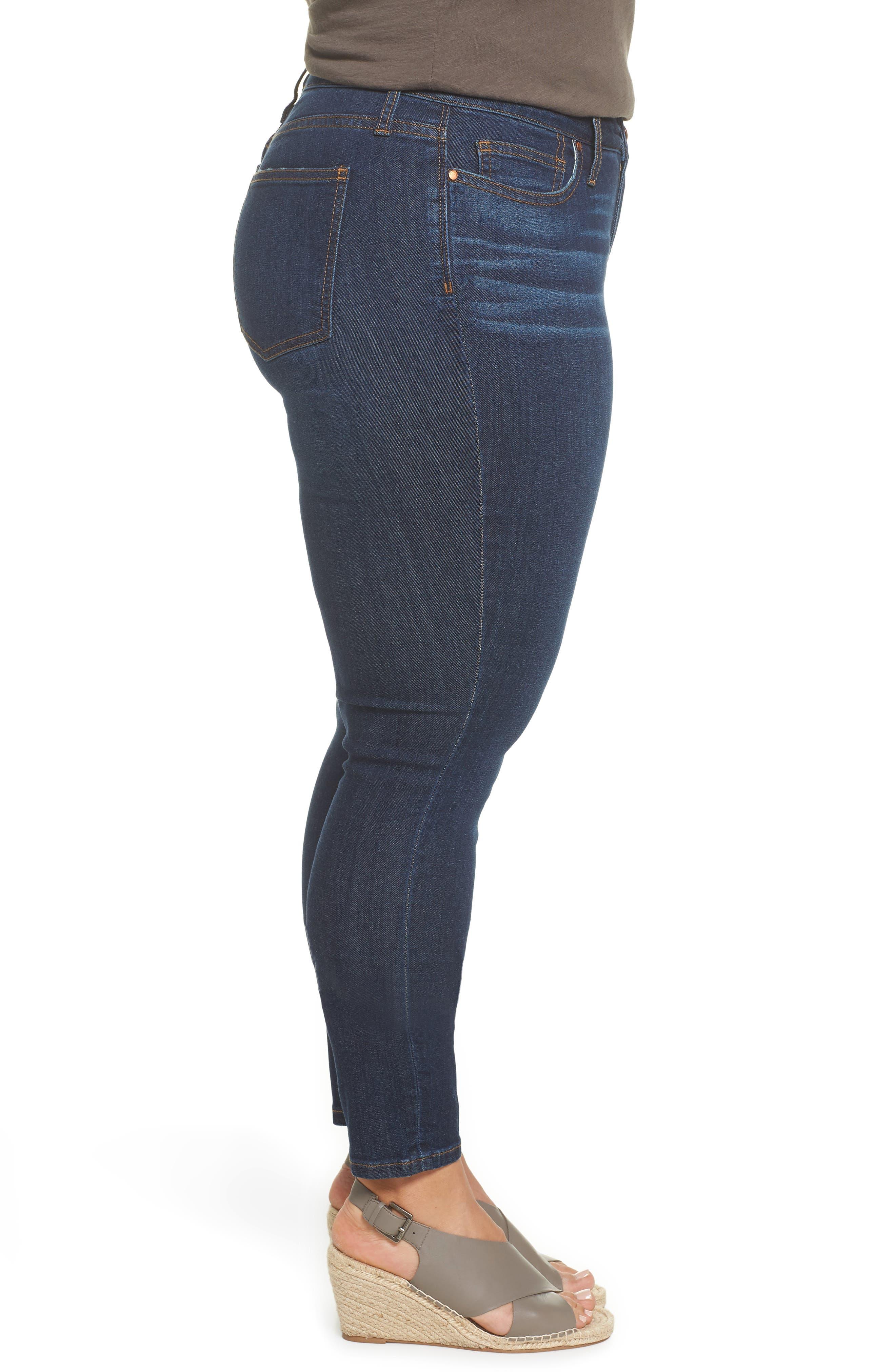 Stretch Skinny Jeans,                             Alternate thumbnail 3, color,                             MEDIUM WASH