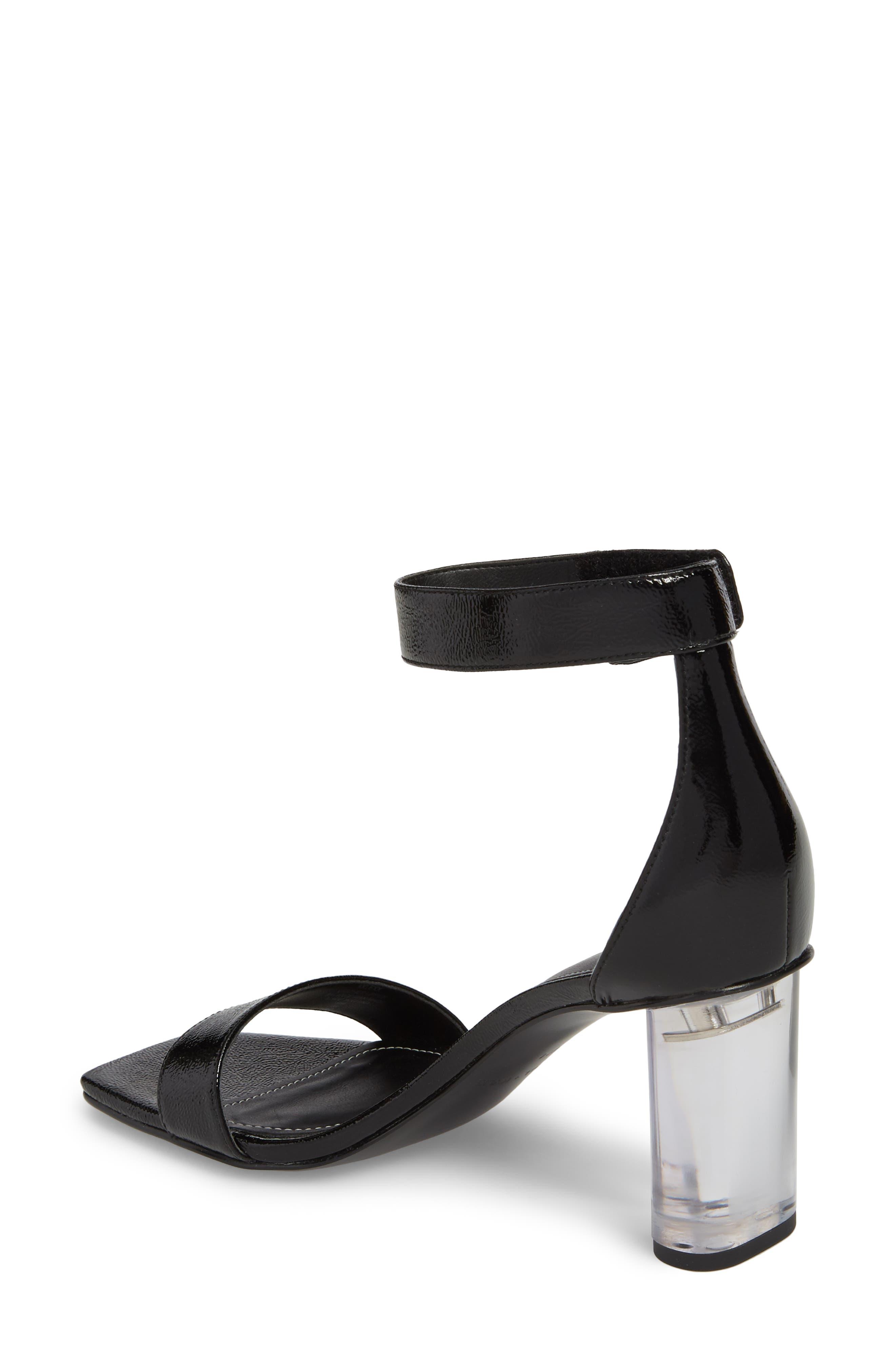 Lexx Ankle Strap Sandal,                             Alternate thumbnail 2, color,                             BLACK
