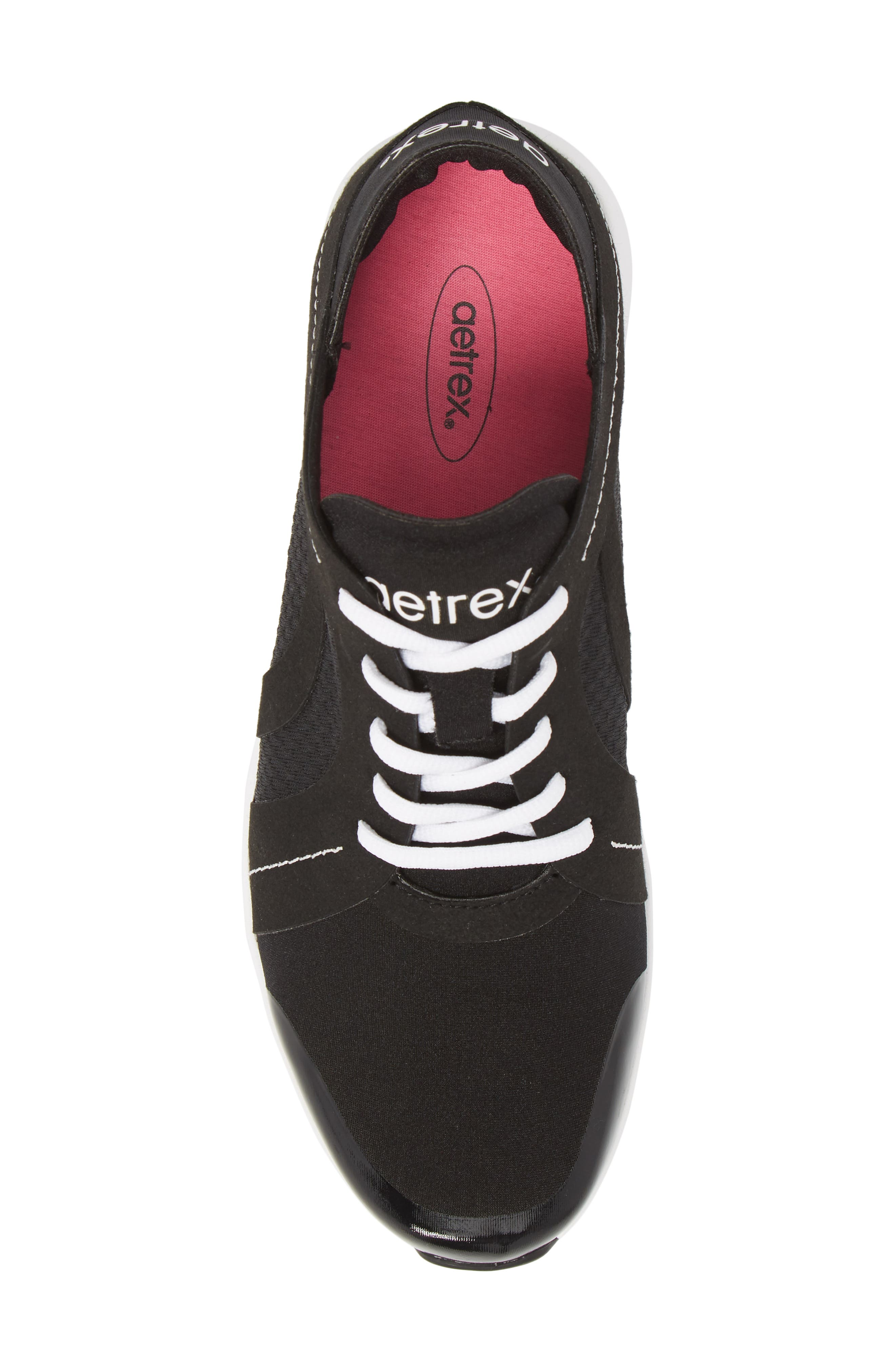 Sloane Sneaker,                             Alternate thumbnail 5, color,                             BLACK FABRIC