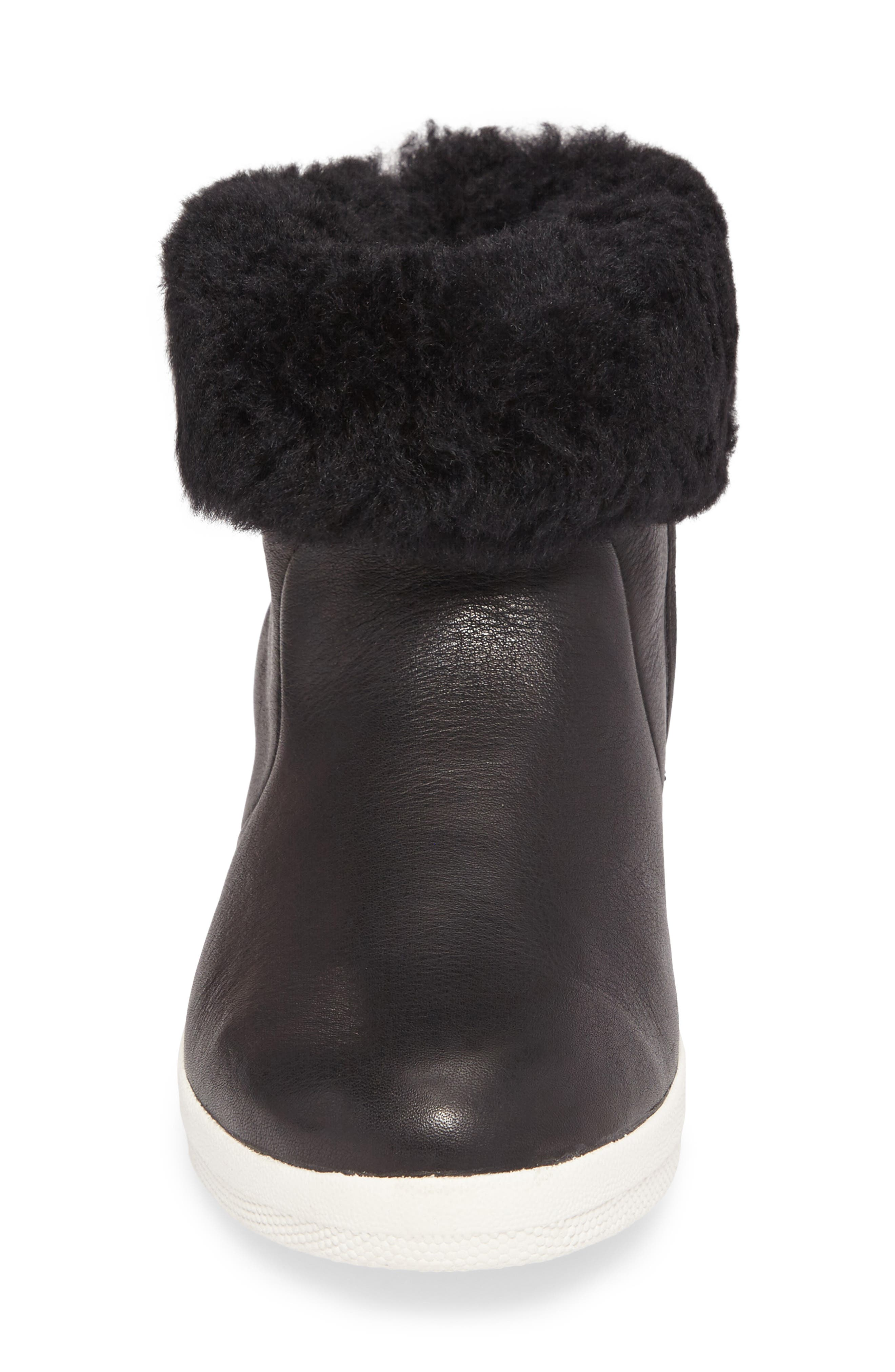 Skatebootie<sup>™</sup> with Genuine Shearling Cuff,                             Alternate thumbnail 7, color,