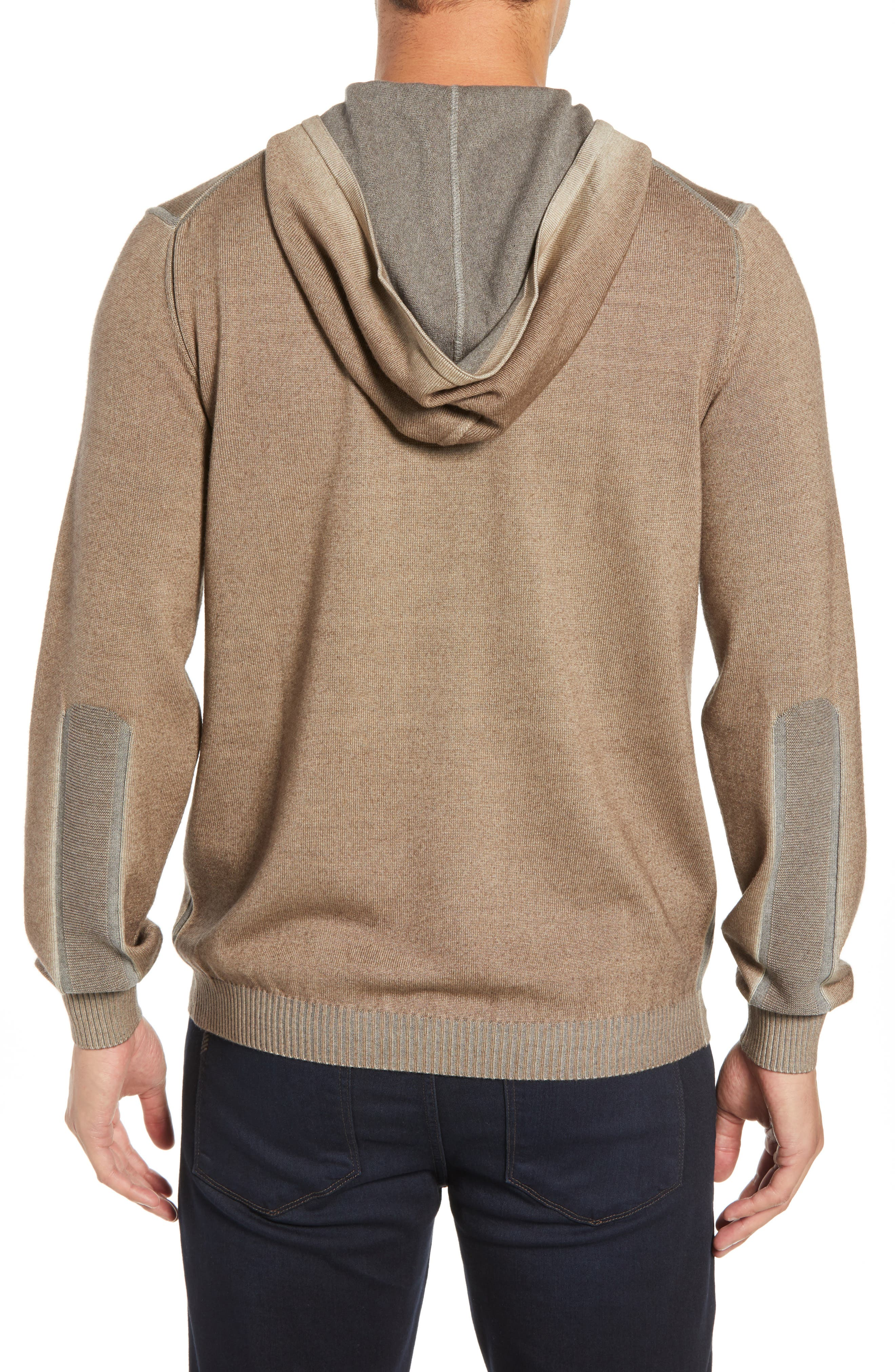 BUGATCHI,                             Hooded Pullover,                             Alternate thumbnail 2, color,                             SAND