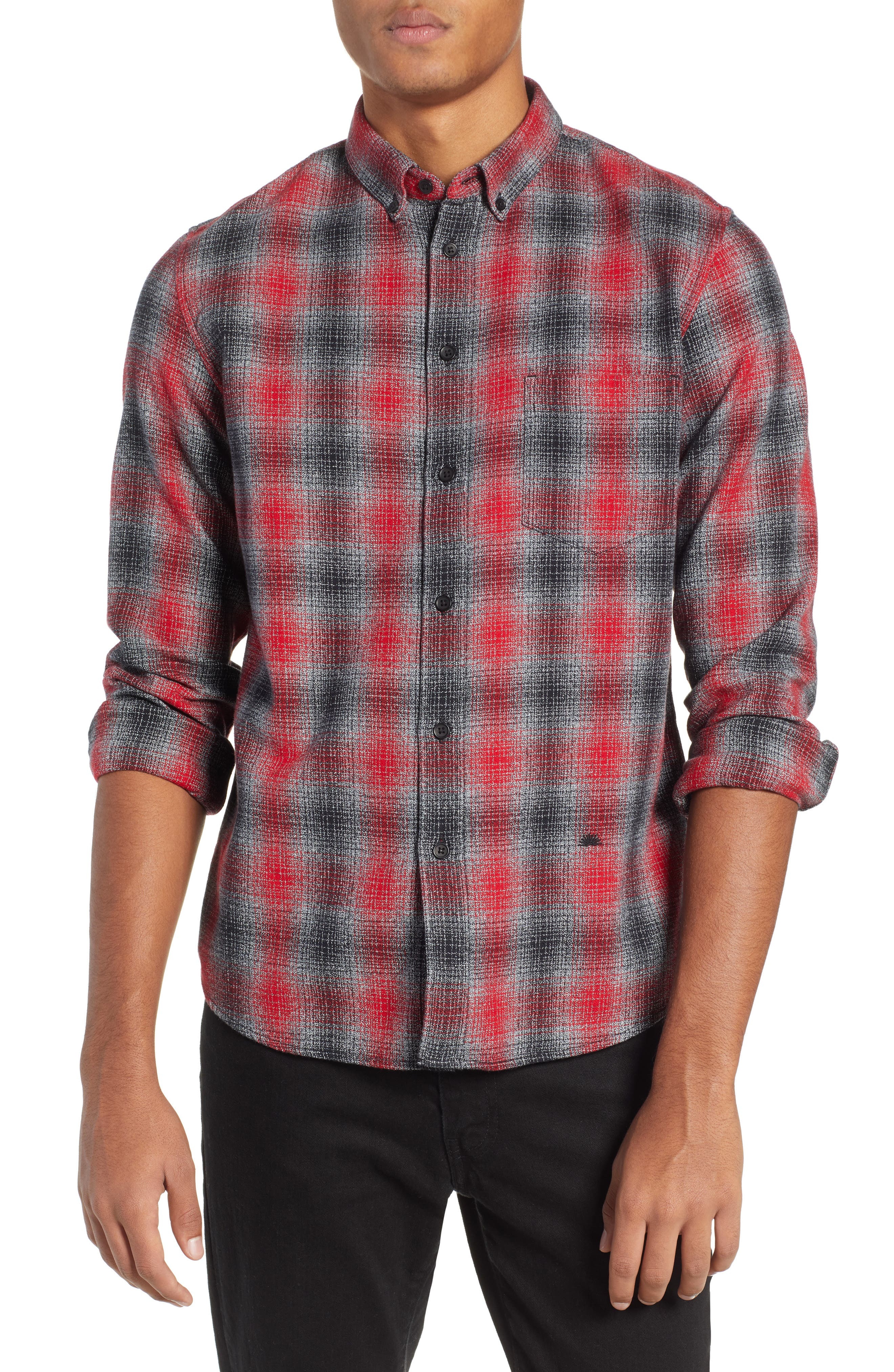 LEVI'S<SUP>®</SUP> MADE & CRAFTED<SUP>™</SUP> Standard Plaid Sport Shirt, Main, color, 800