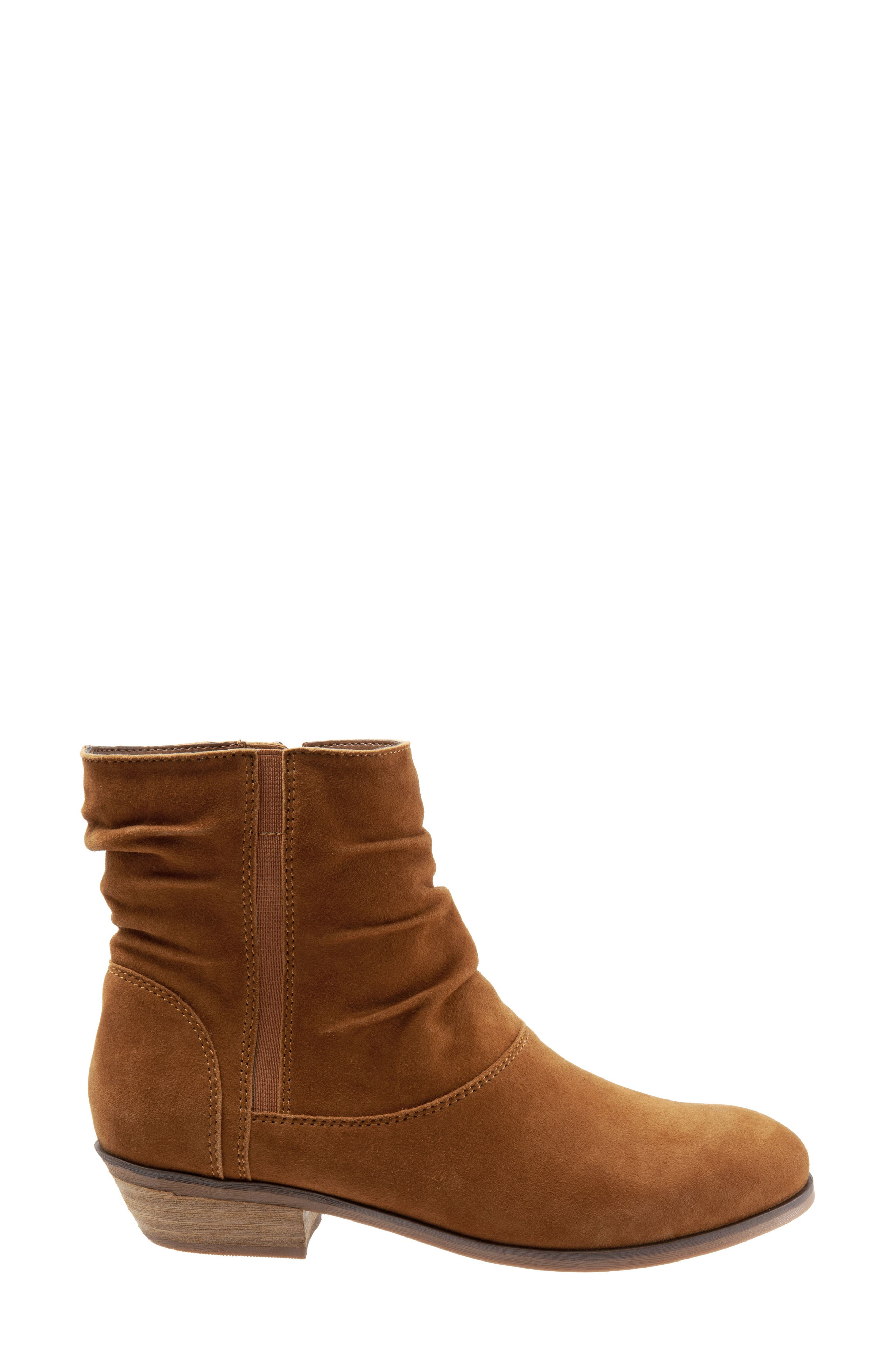 SOFTWALK<SUP>®</SUP>,                             Rochele Bootie,                             Alternate thumbnail 3, color,                             BRANDY SUEDE