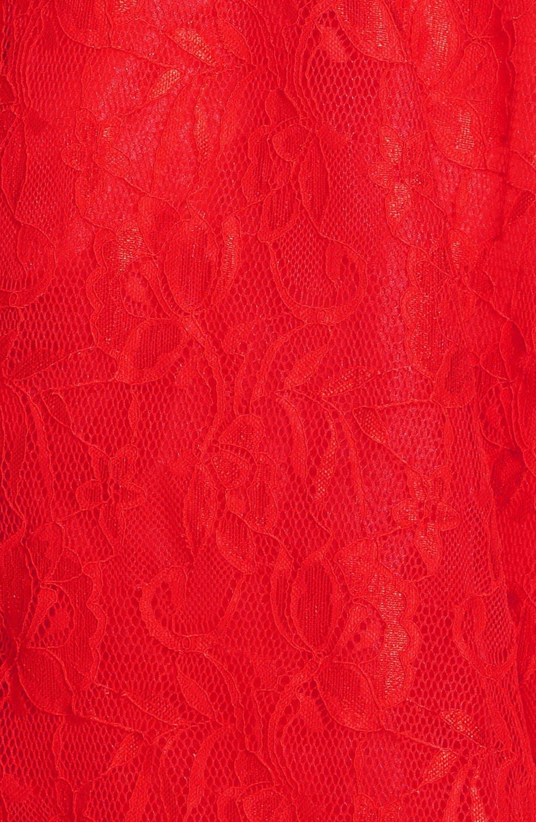 Lace Skater Dress,                             Alternate thumbnail 2, color,                             600