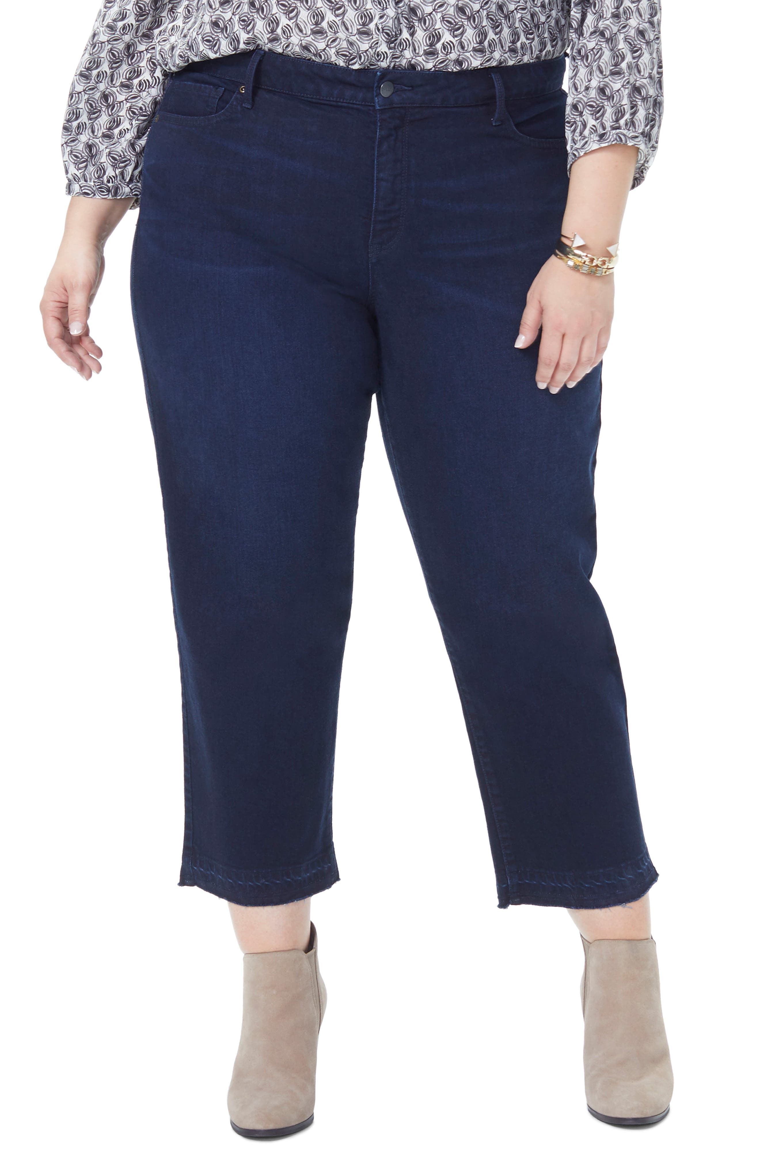 Jenna Straight Leg Release Hem Ankle Jeans,                             Main thumbnail 1, color,                             BIXBY
