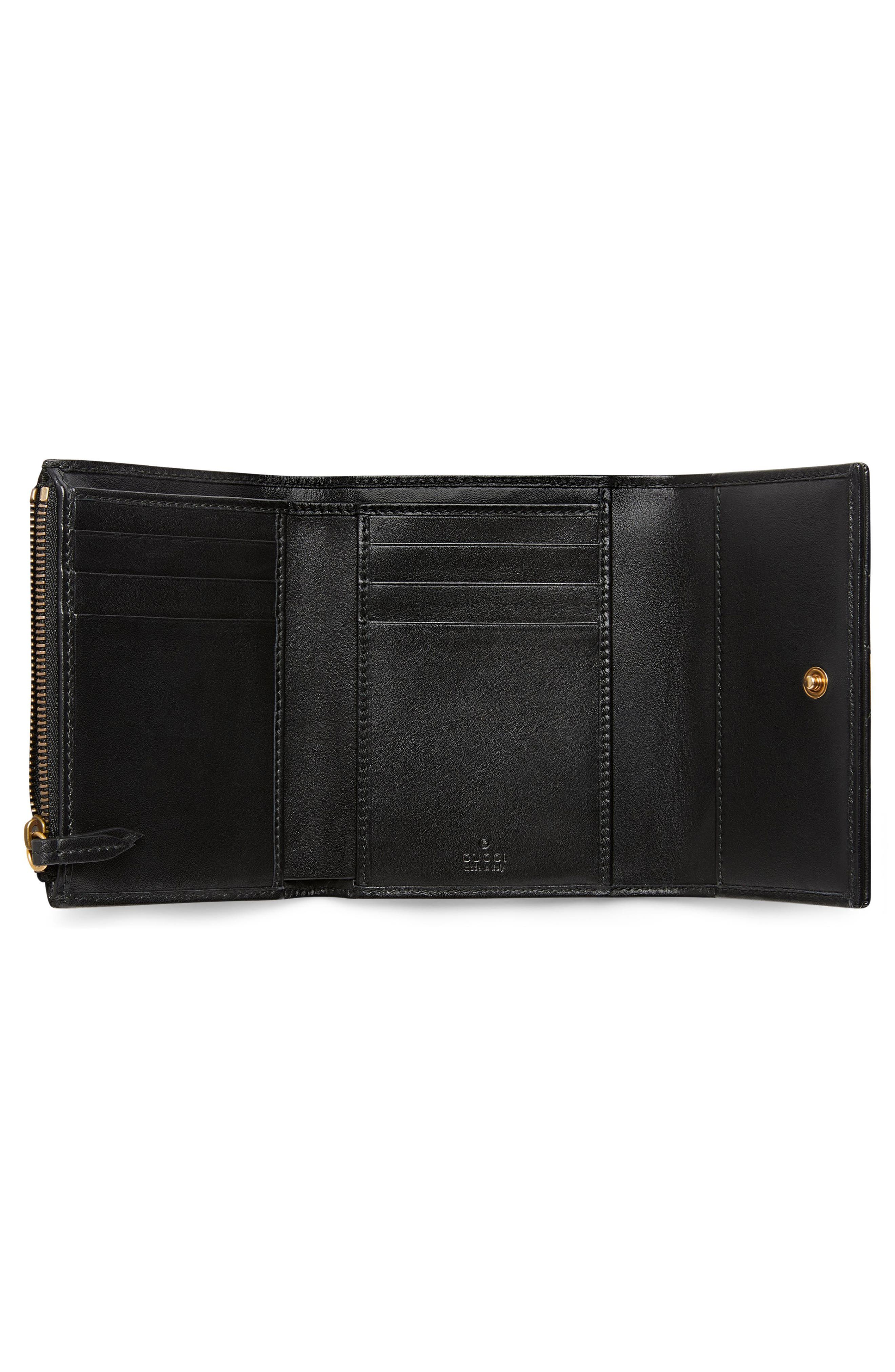 Medium Marmont 2.0 Leather Bifold Wallet,                             Alternate thumbnail 2, color,                             NERO