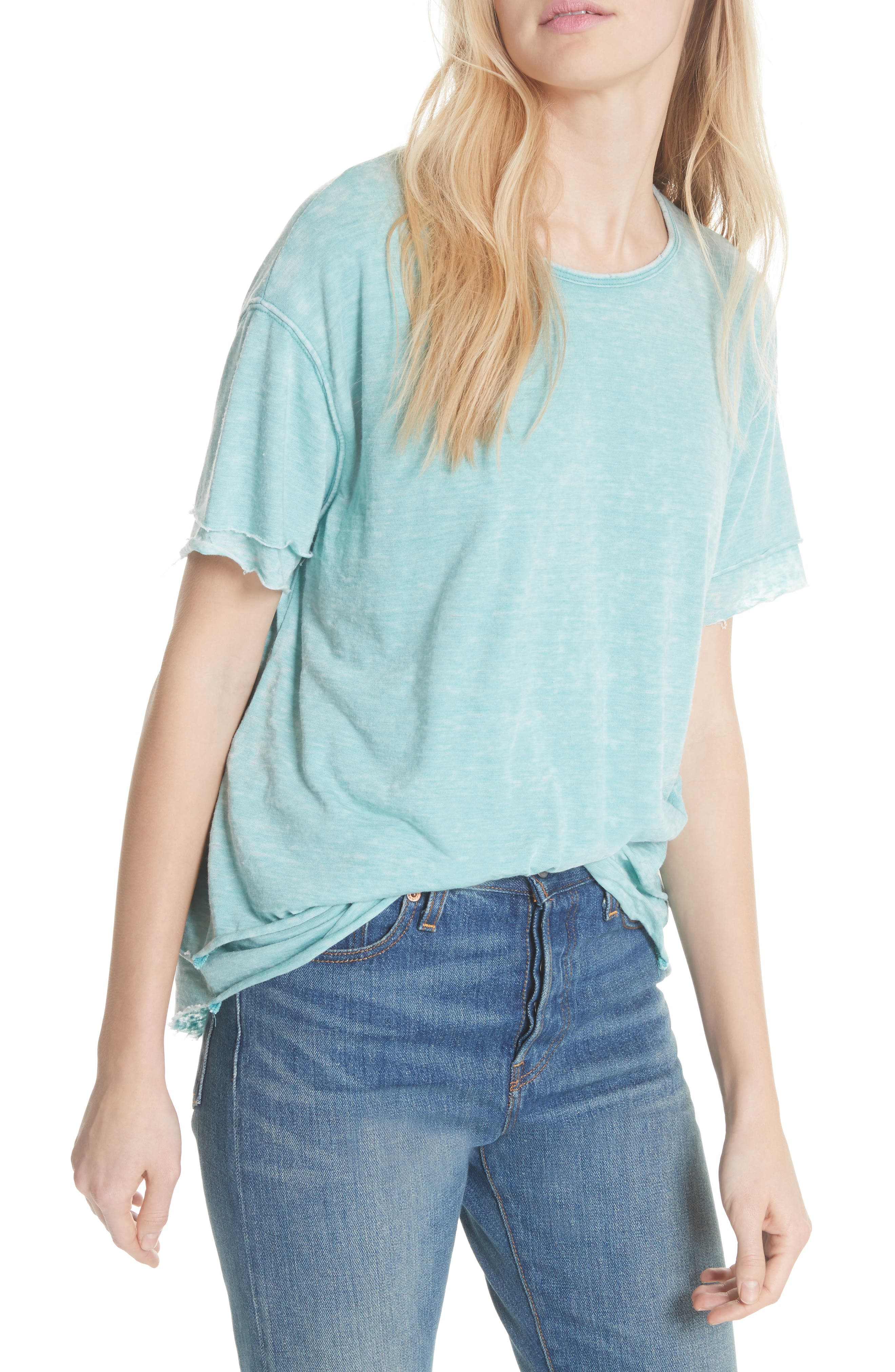 We the Free by Free People Cloud Nine Tee,                             Main thumbnail 4, color,