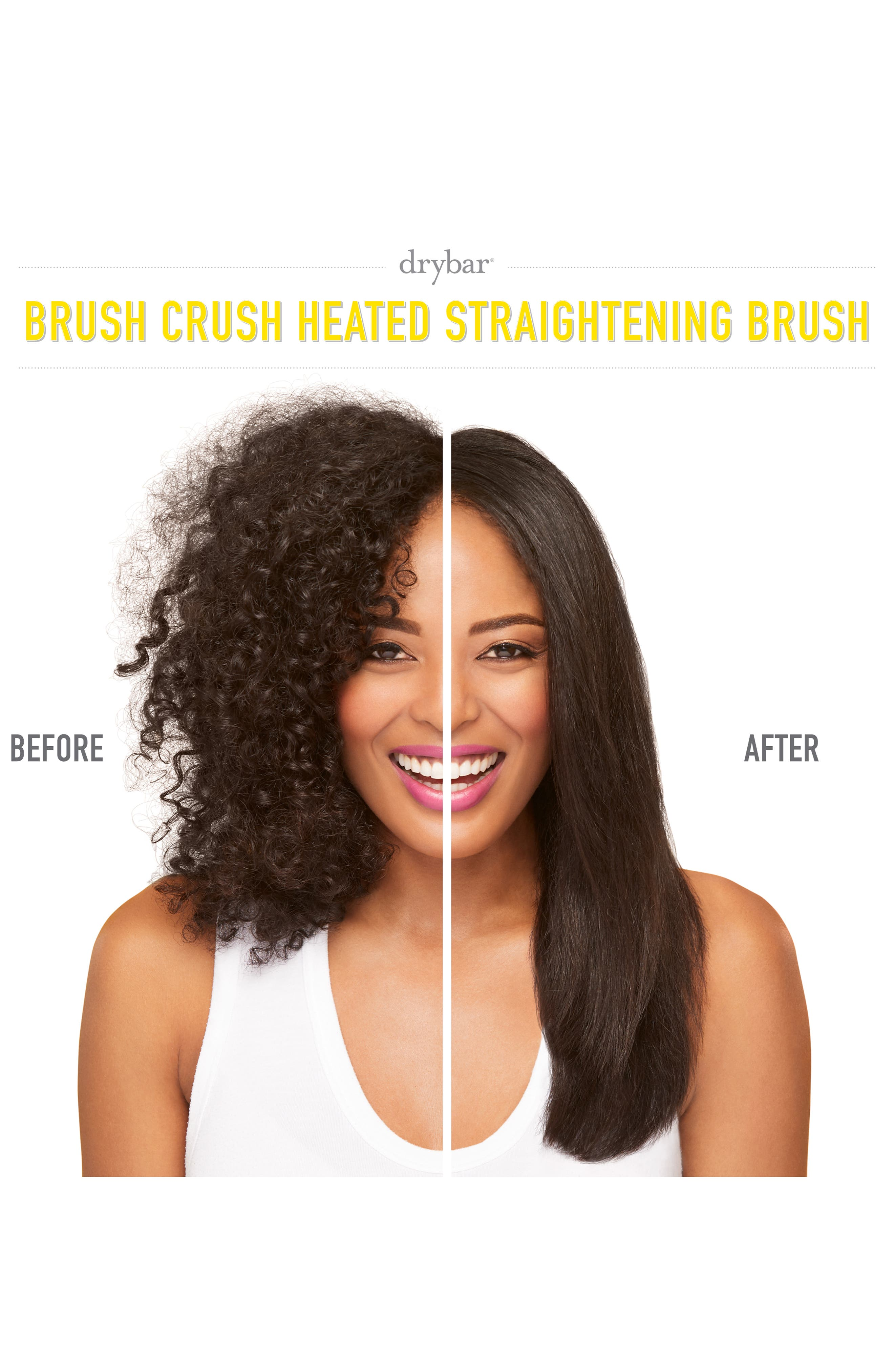 The Brush Crush Heated Straightening Brush,                             Alternate thumbnail 3, color,                             NO COLOR