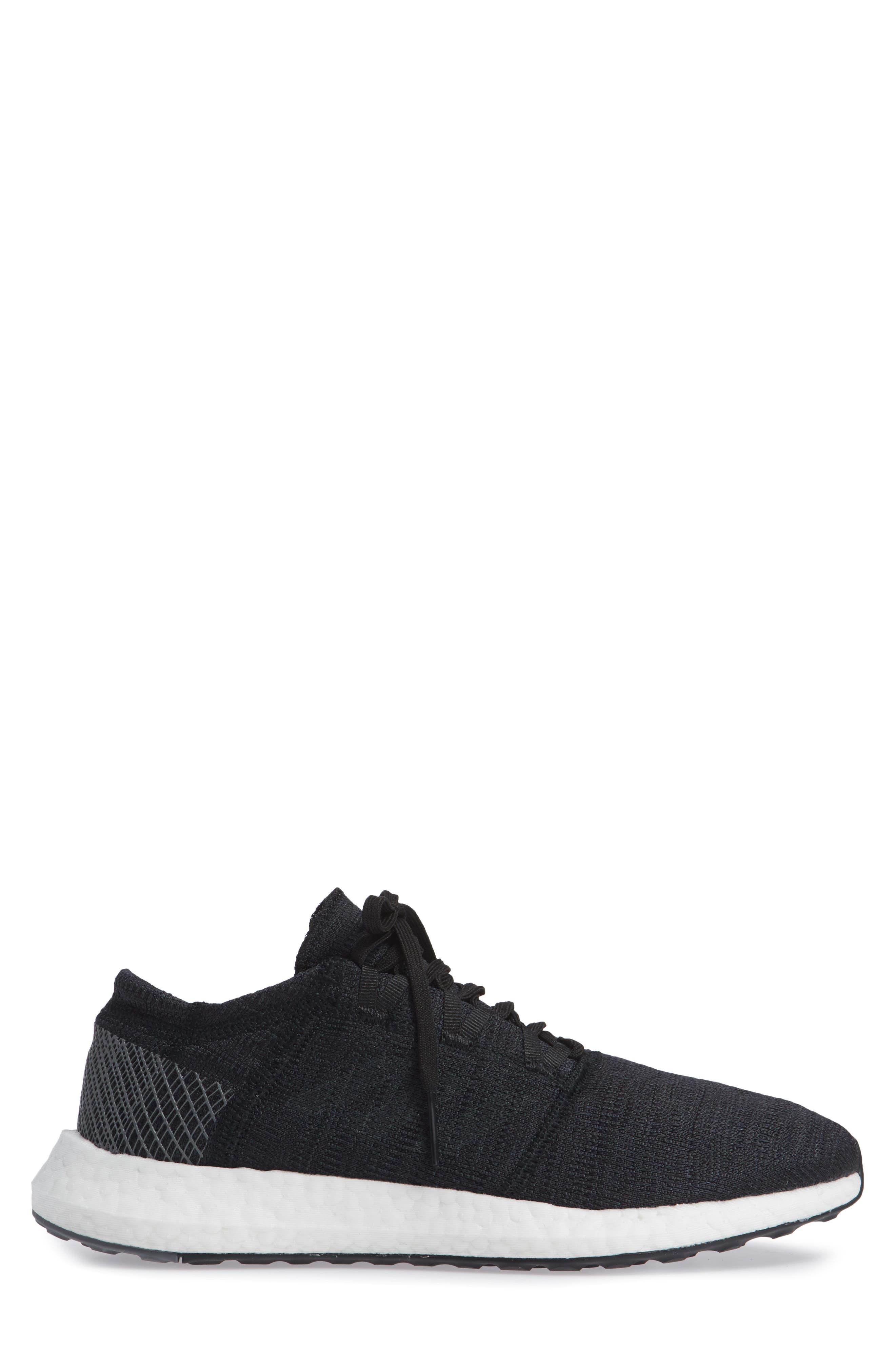 PureBoost GO Running Shoe,                             Alternate thumbnail 3, color,                             BLACK/ GREY