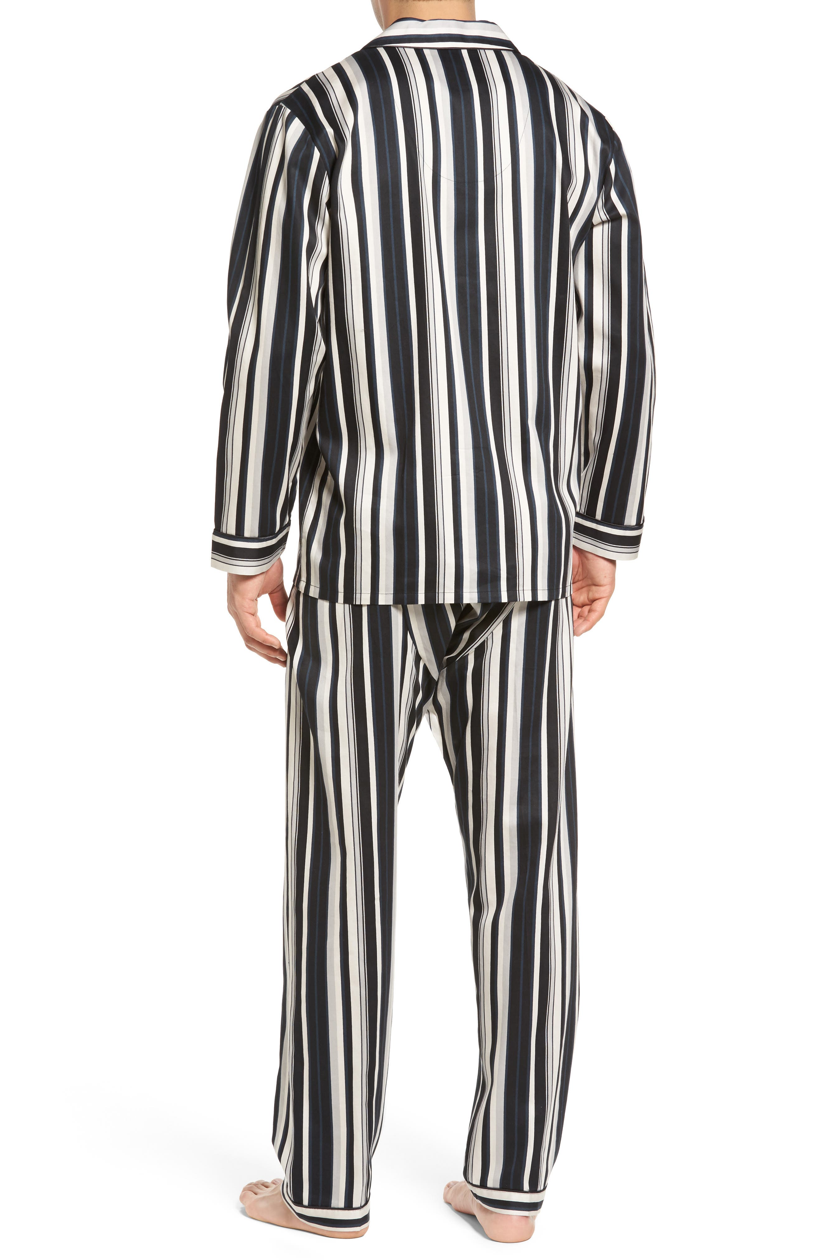 Winslow Pajama Set,                             Alternate thumbnail 2, color,                             BLACK STRIPE