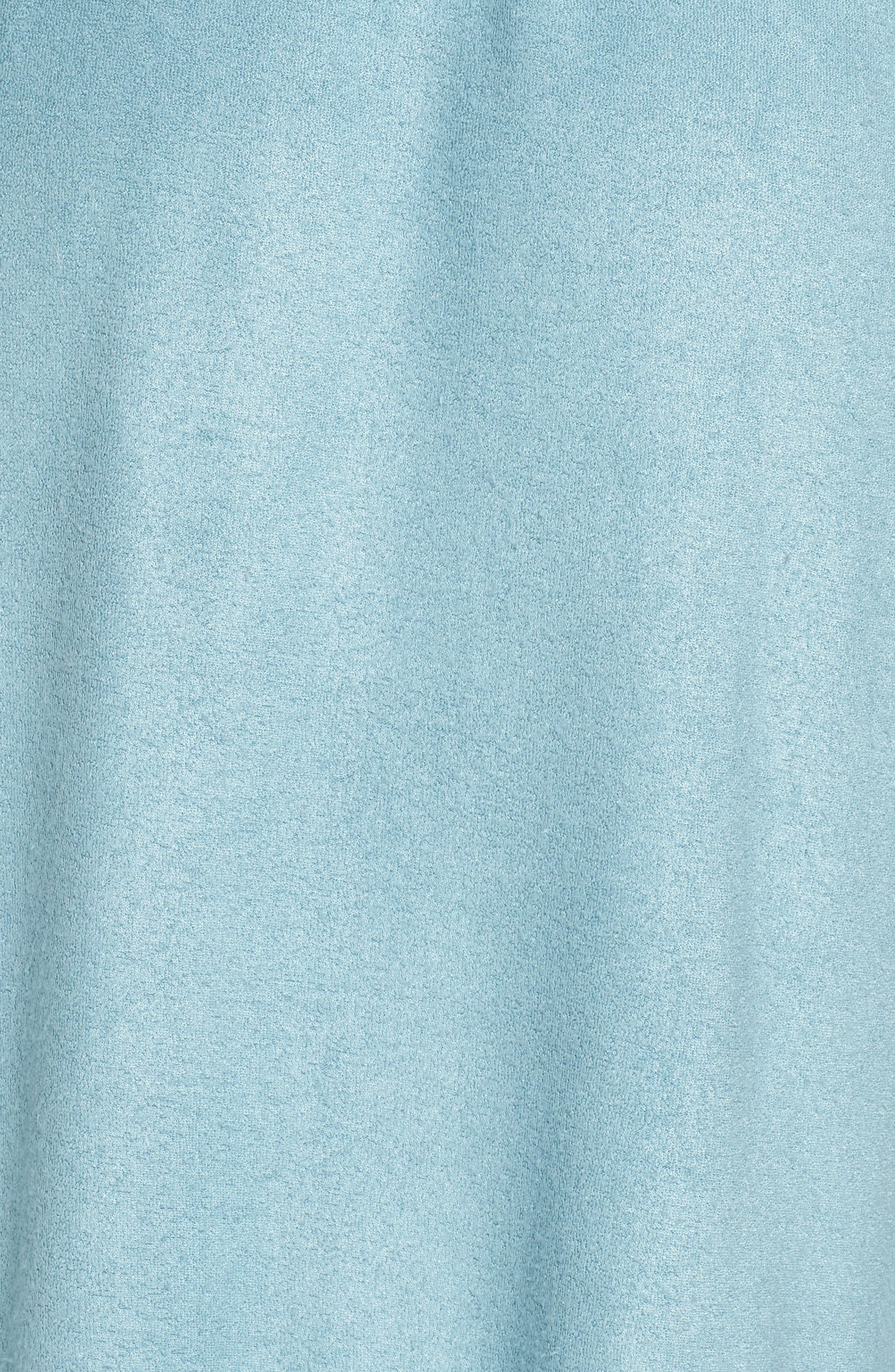Himalaya Brushed Terry Robe,                             Alternate thumbnail 5, color,                             SMOKE BLUE