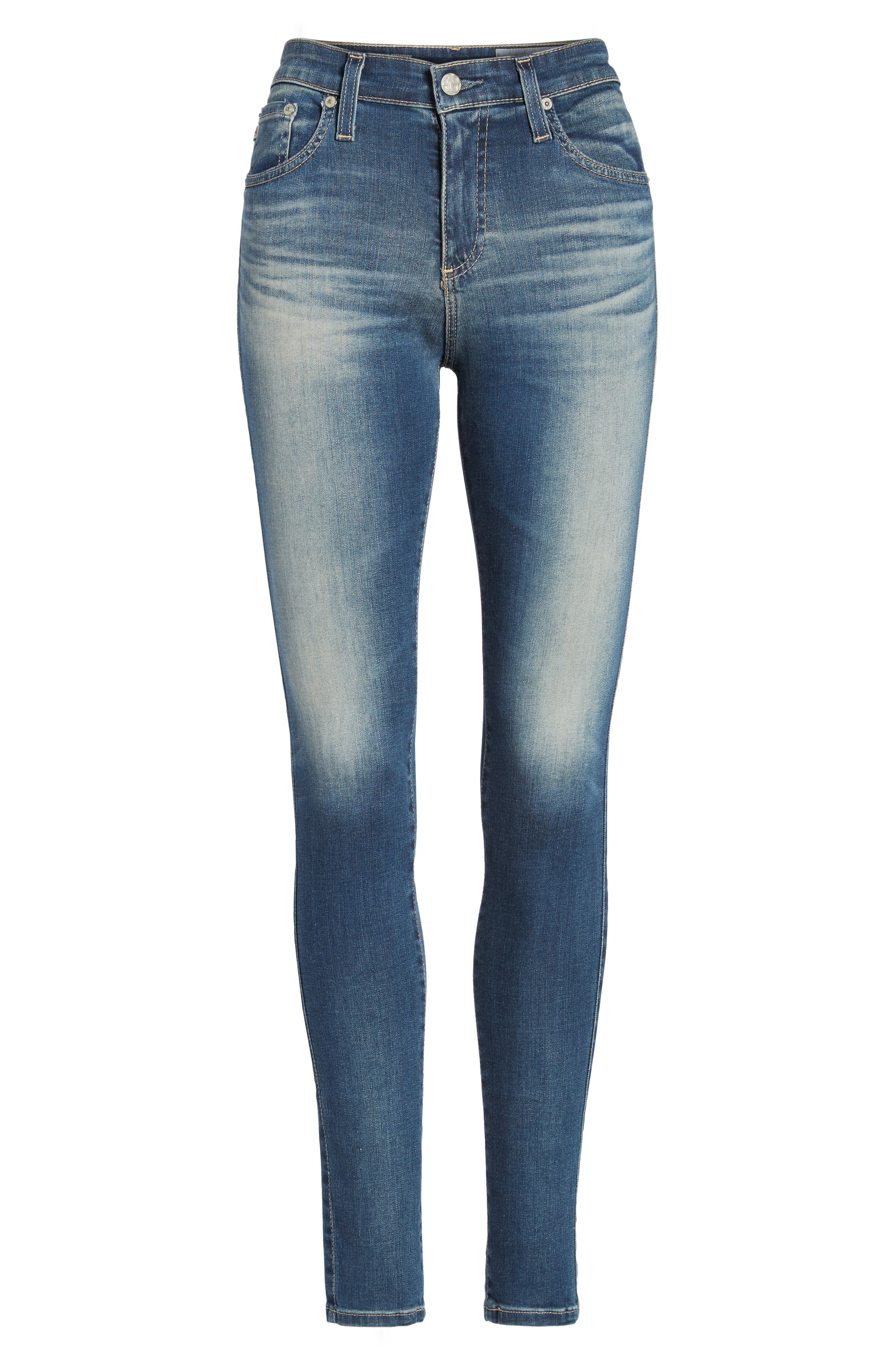 'The Farrah' High Rise Skinny Jeans,                             Alternate thumbnail 49, color,