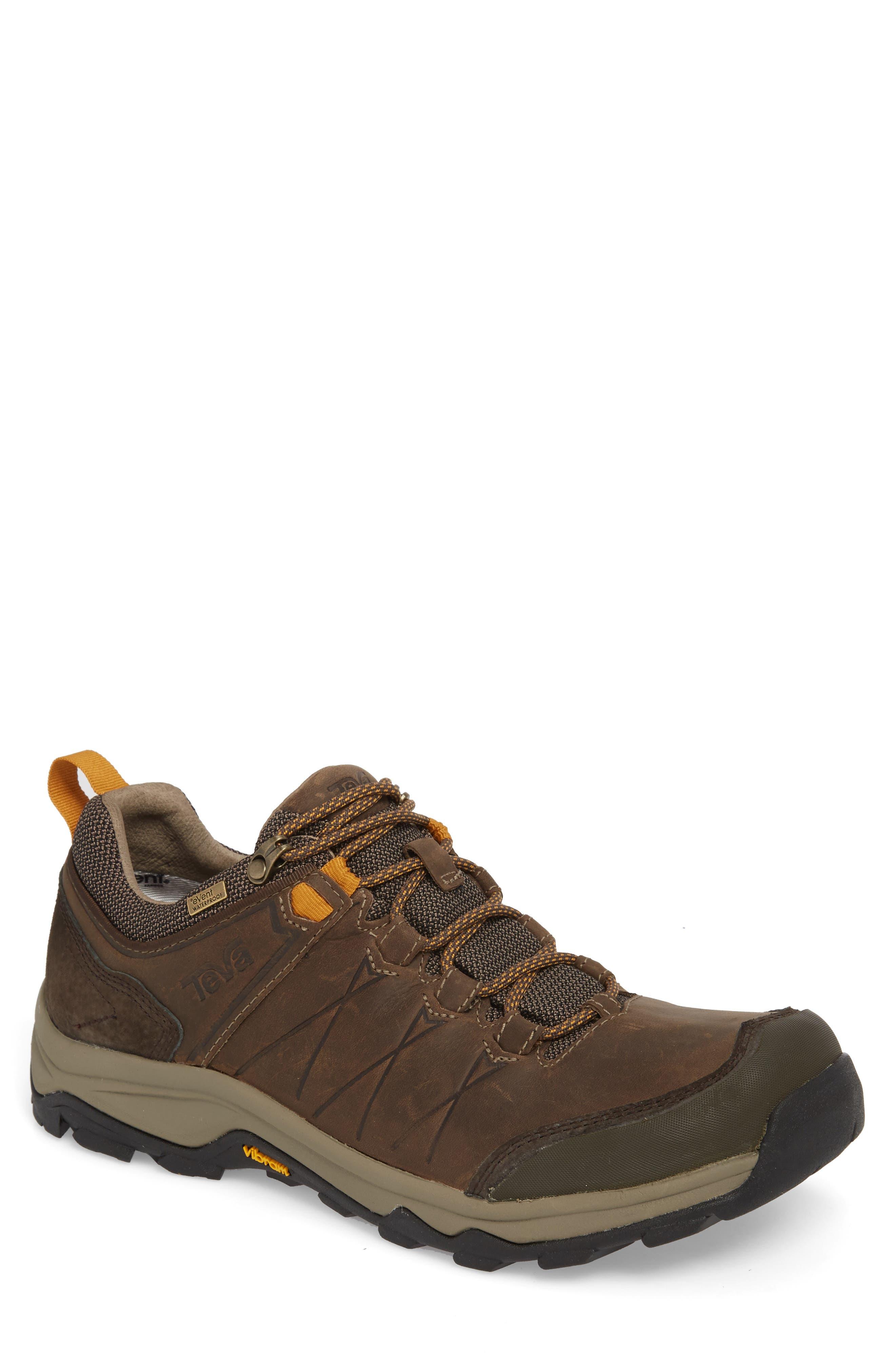 Arrowood Riva Waterproof Sneaker,                             Main thumbnail 1, color,                             WALNUT LEATHER