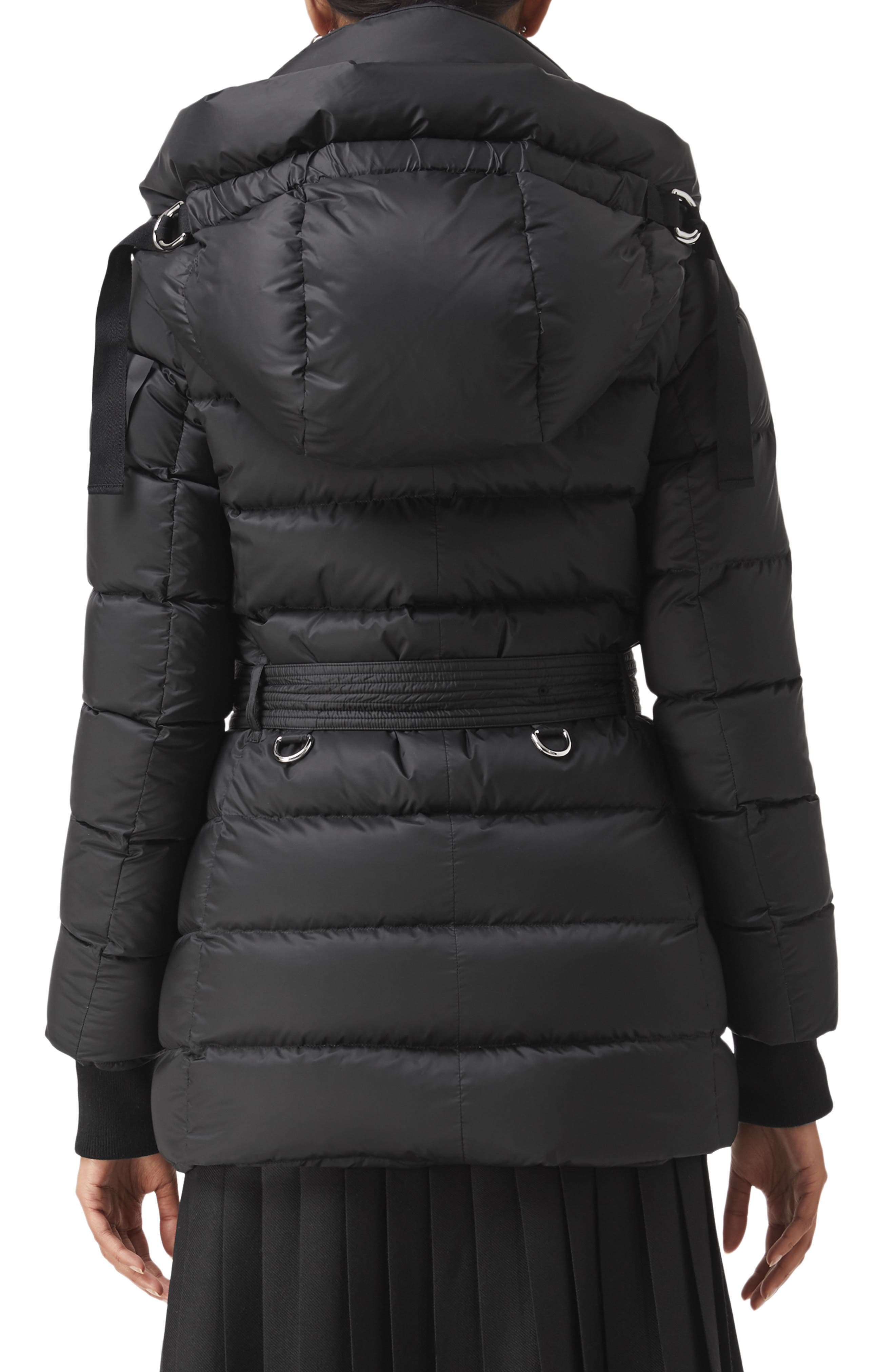 Limehouse Quilted Down Puffer Coat,                             Alternate thumbnail 2, color,                             BLACK