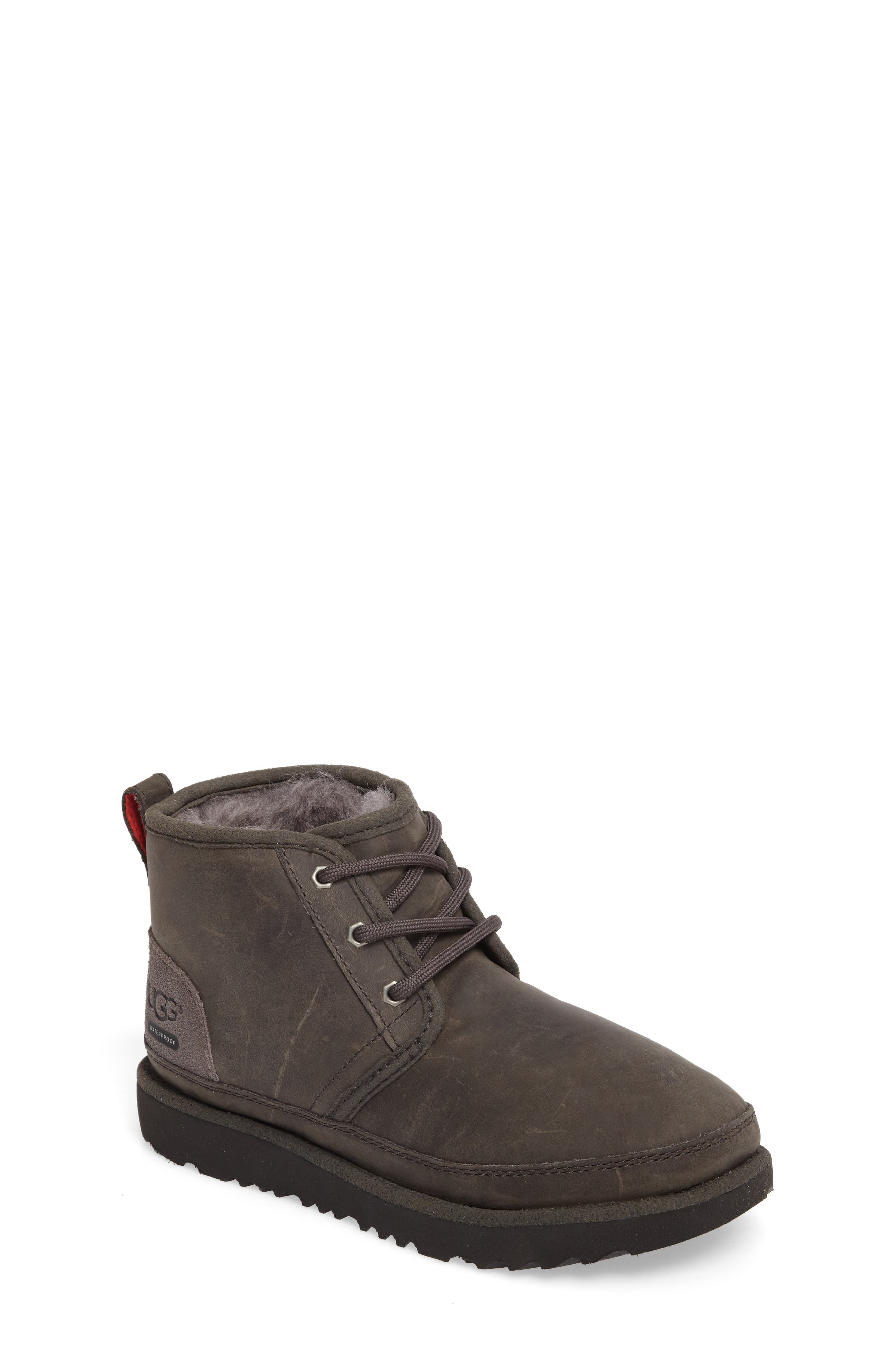 Neumel II Waterproof Chukka,                             Main thumbnail 1, color,                             CHARCOAL