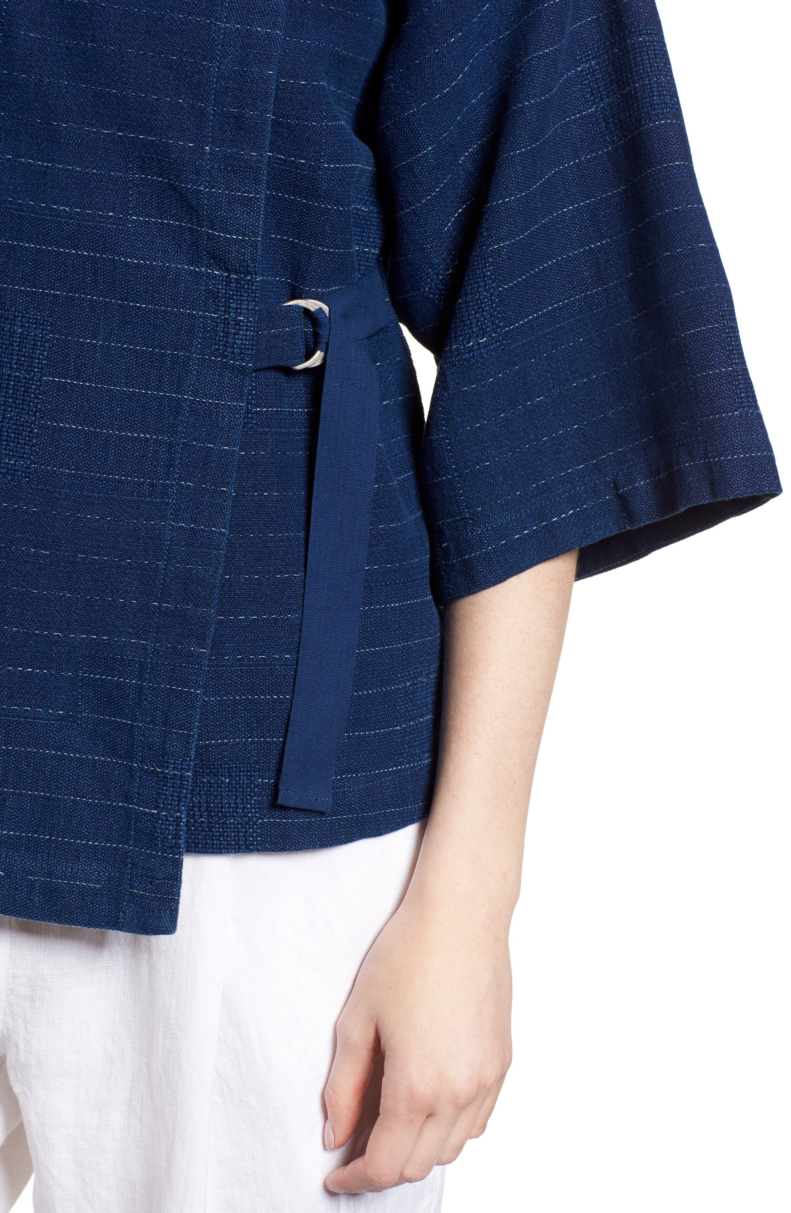 Belted Kimono Jacket,                             Alternate thumbnail 4, color,                             402