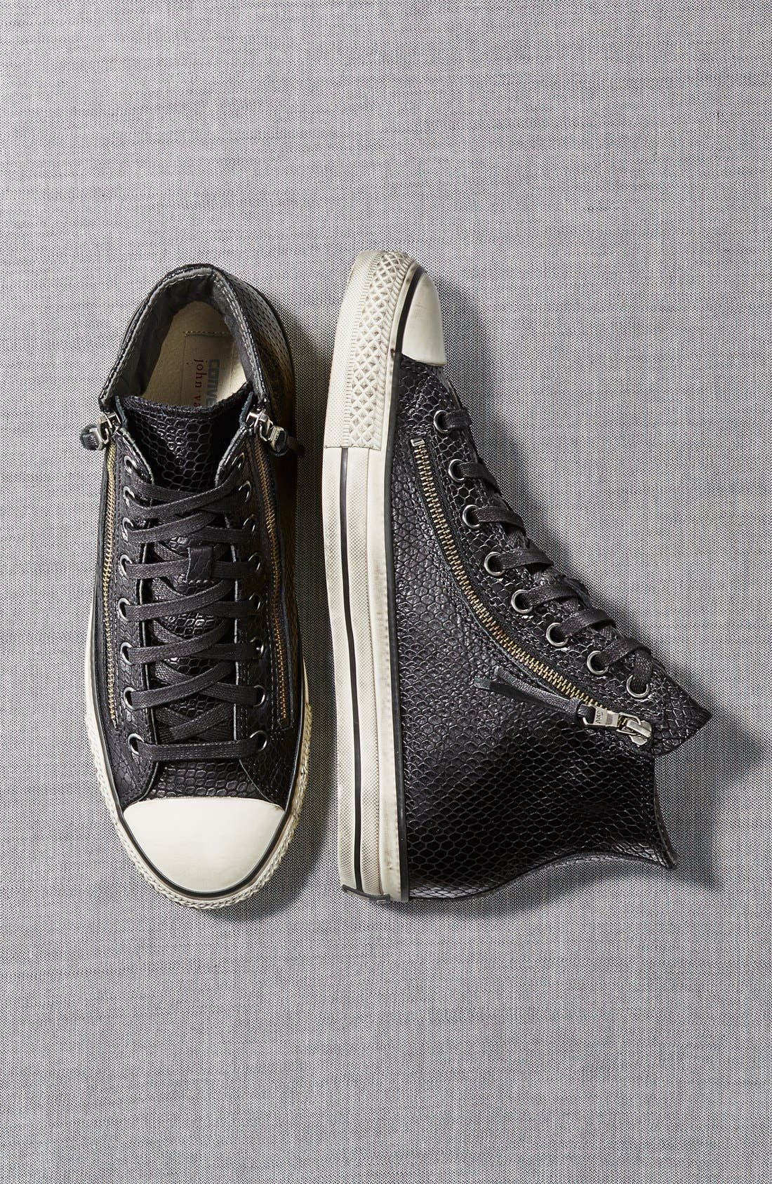 Chuck Taylor<sup>®</sup> All Star<sup>®</sup> Zip Sneaker,                             Alternate thumbnail 5, color,                             001