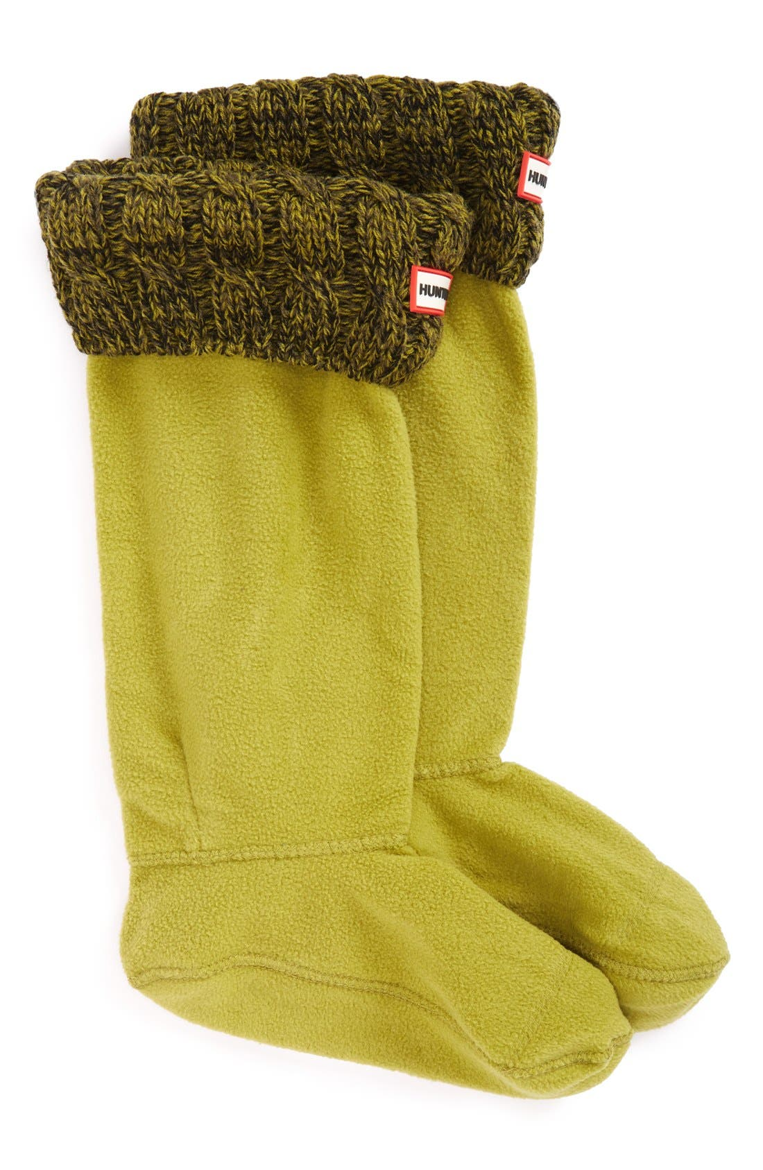 Original Tall Cable Knit Cuff Welly Boot Socks,                             Main thumbnail 6, color,