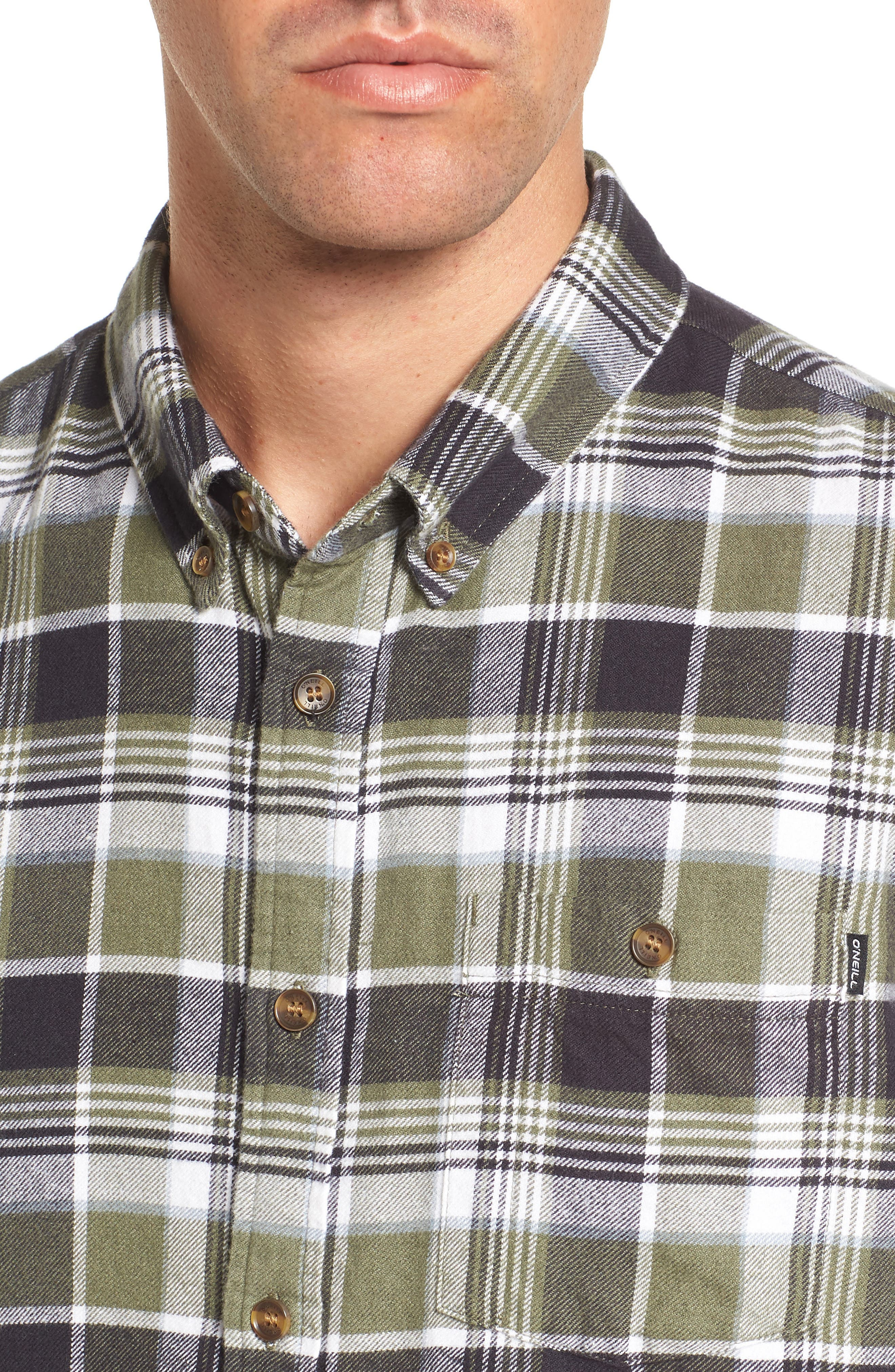Redmond Regular Fit Plaid Flannel Shirt,                             Alternate thumbnail 4, color,                             301