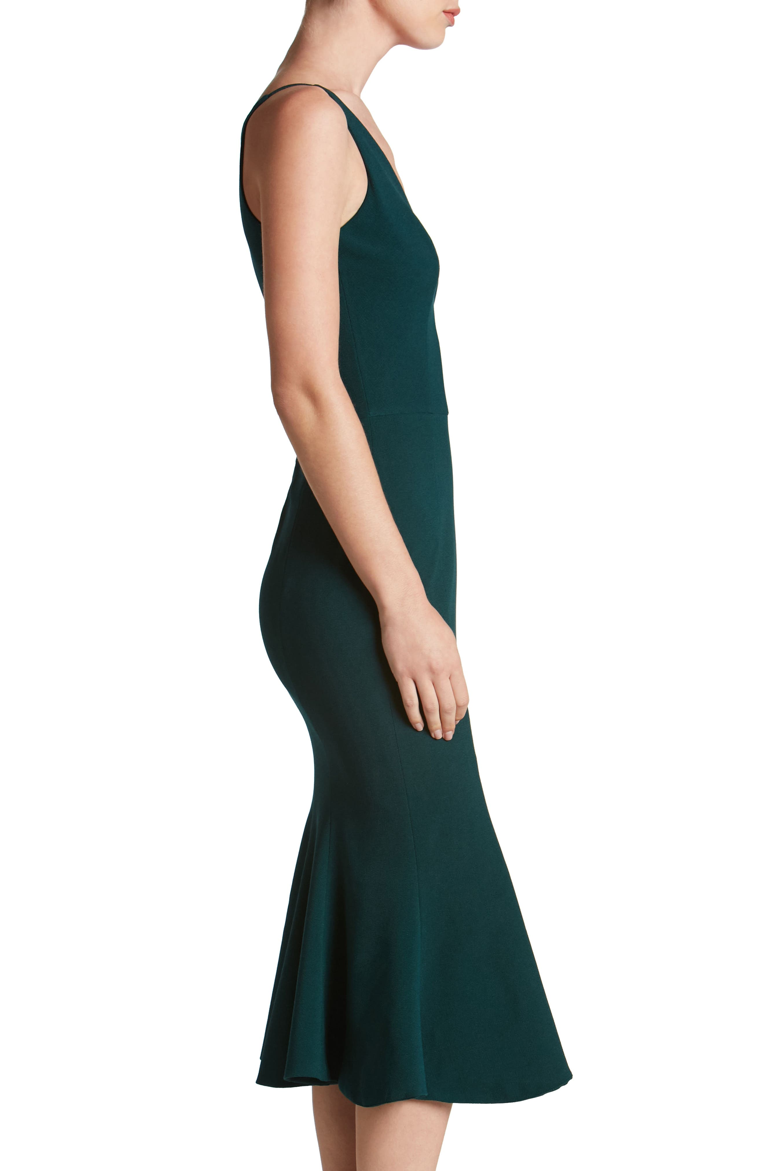 Isabelle Crepe Mermaid Dress,                             Alternate thumbnail 10, color,