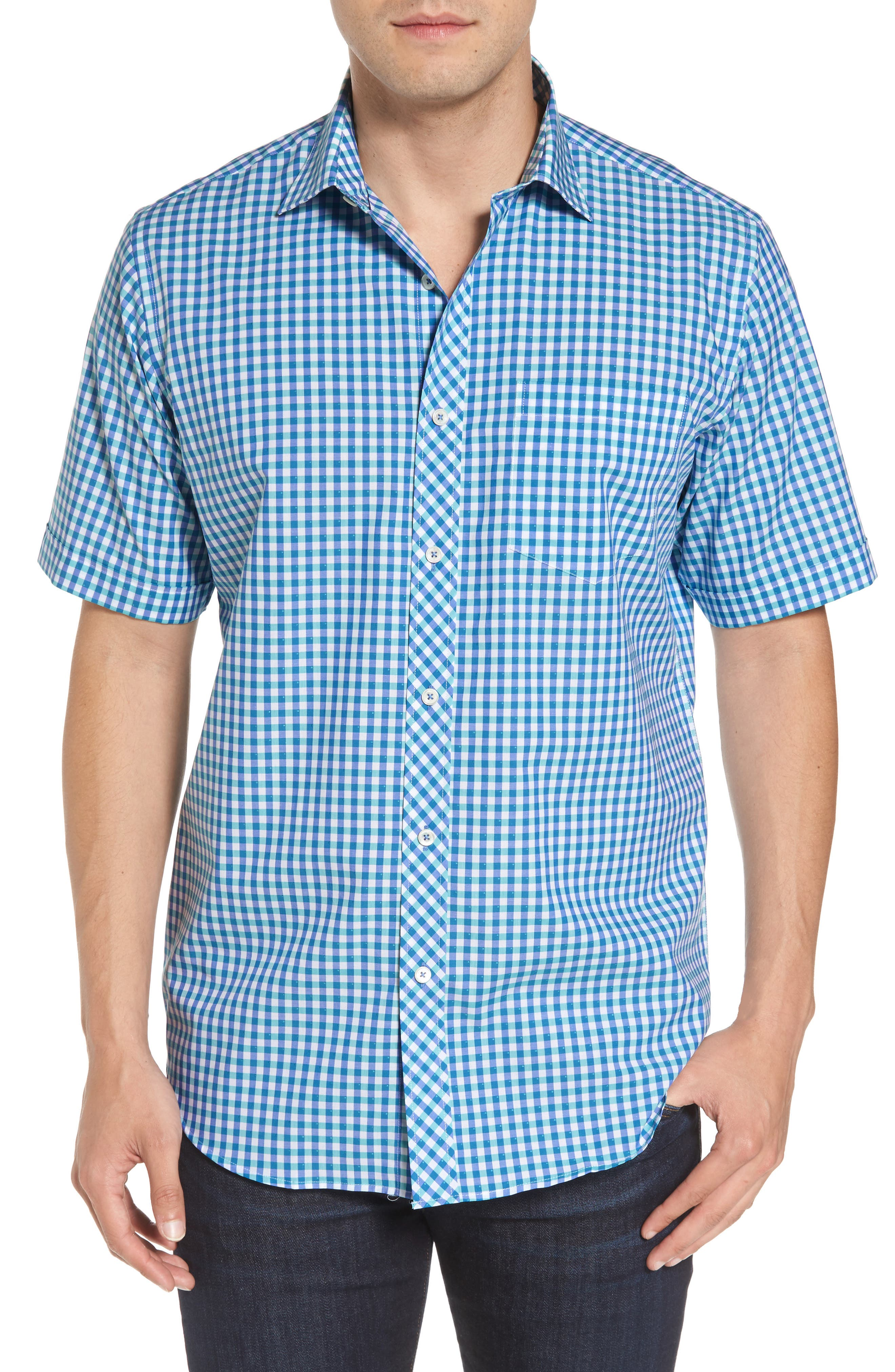 Classic Fit Check Sport Shirt,                             Main thumbnail 1, color,                             420