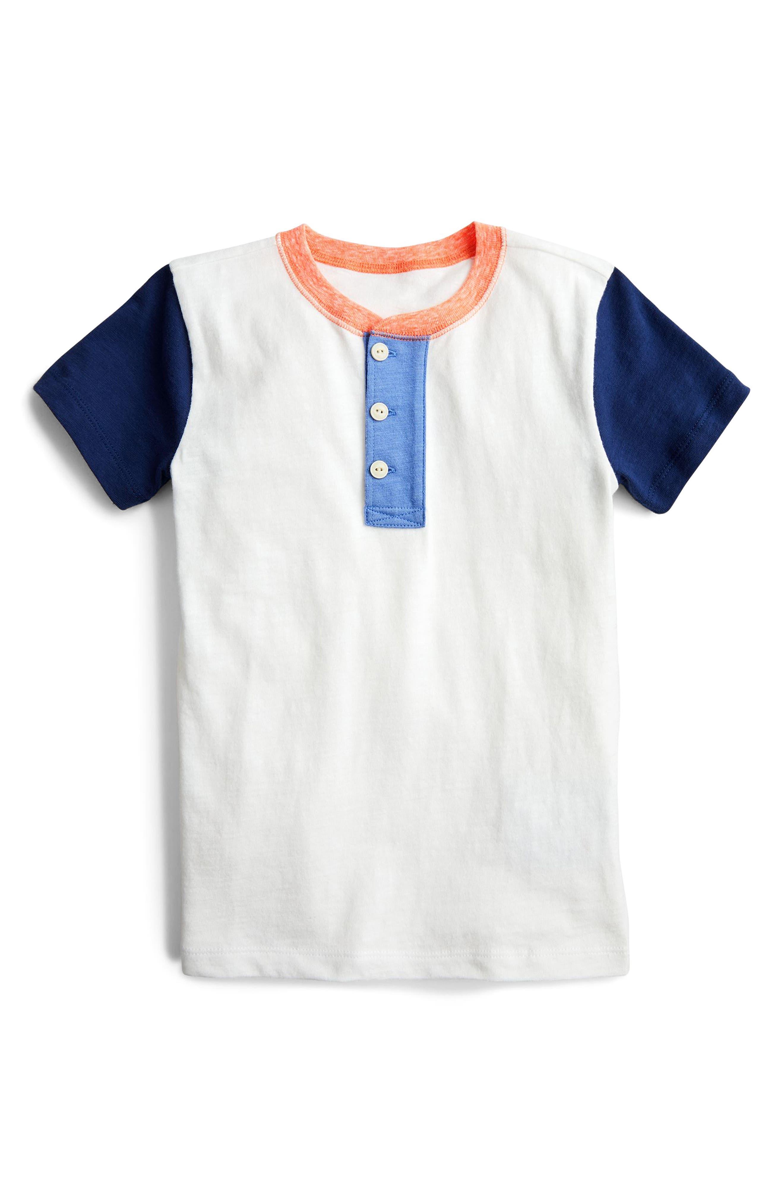 Colorblock Henley Shirt,                         Main,                         color, 900